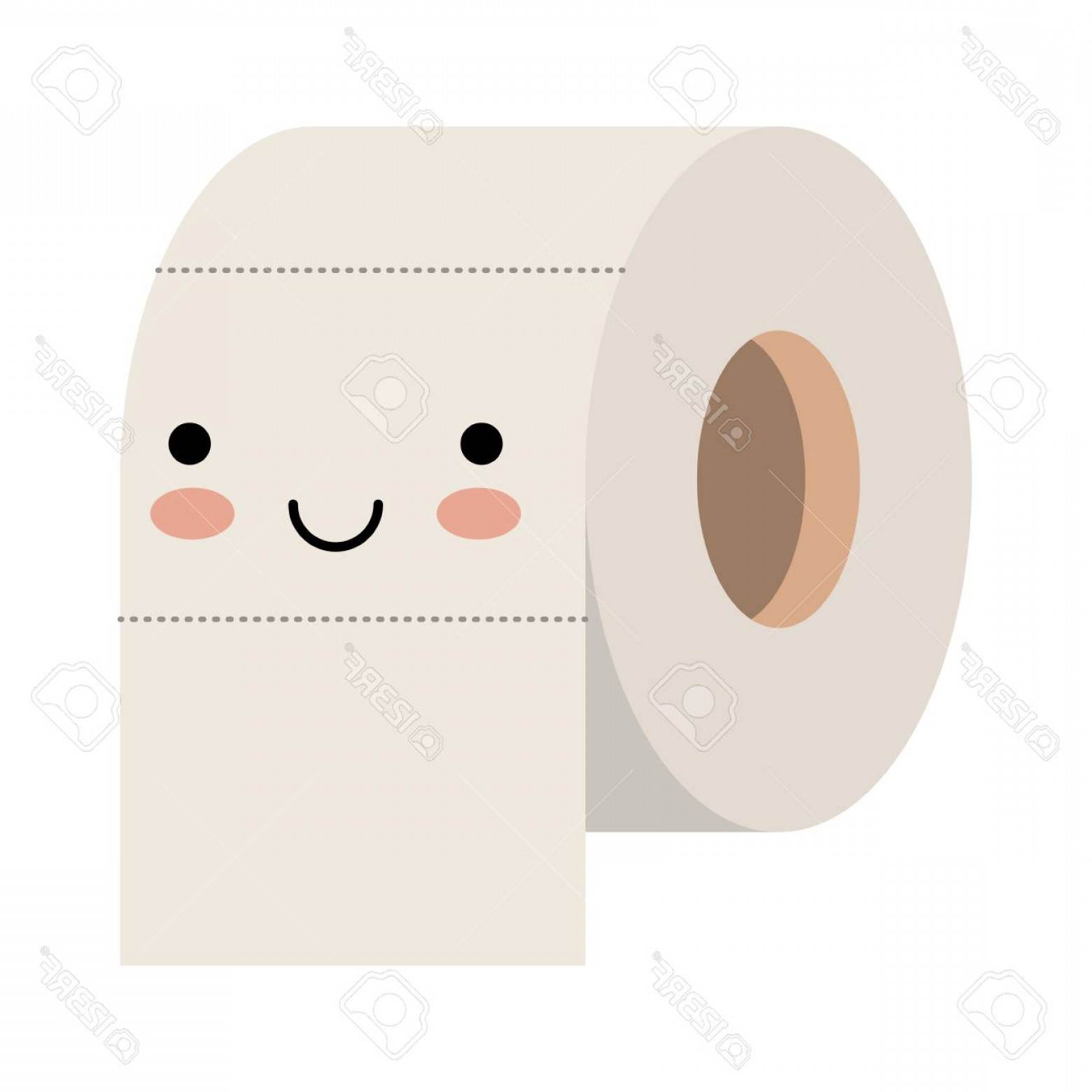 Toilet Paper Vector: Photostock Vector Toilet Paper Roll In Colorful Silhouette Vector Illustration
