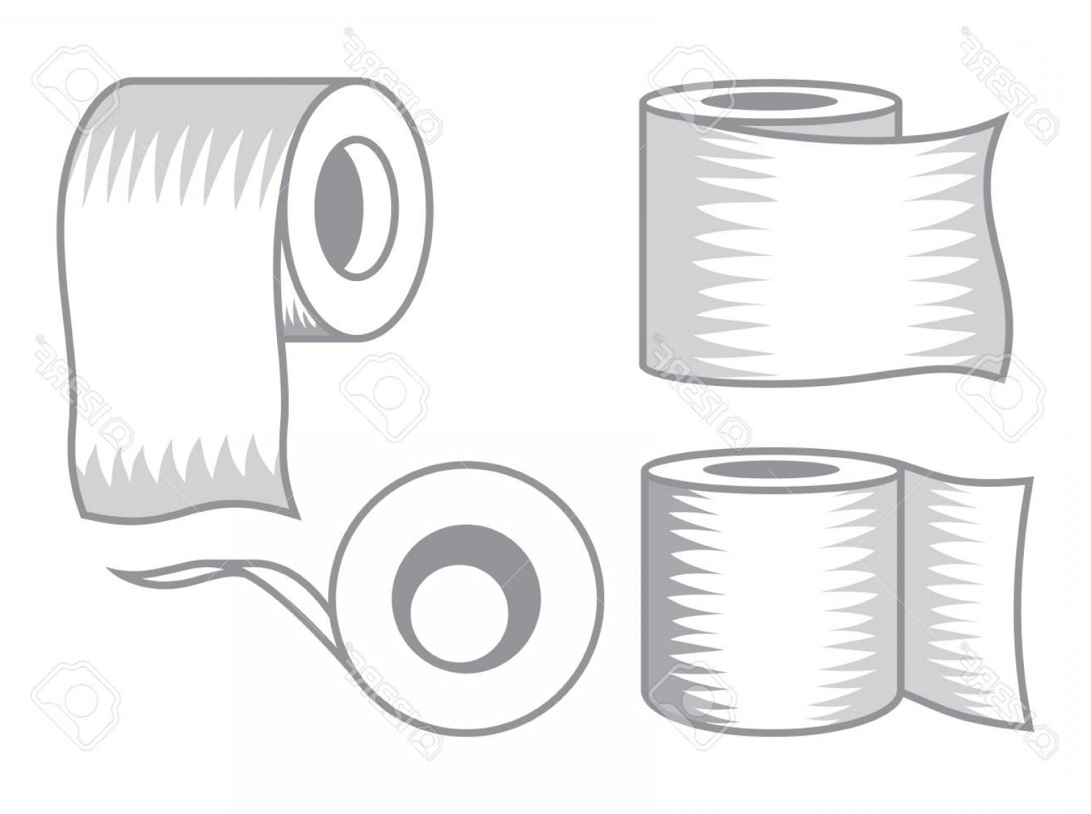 Toilet Paper Vector: Photostock Vector Toilet Paper Vector Icon