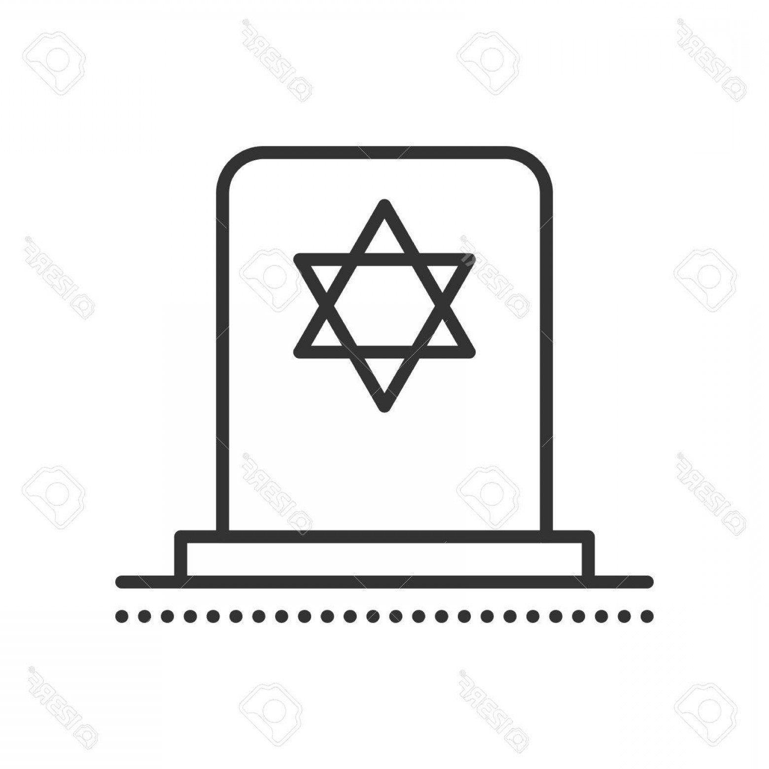 Gravestone Outline Vector: Photostock Vector Tombstone With Star Of David Jewish Grave Stone Symbol Of Death And Funeral Gravestone Flat Icon Vec