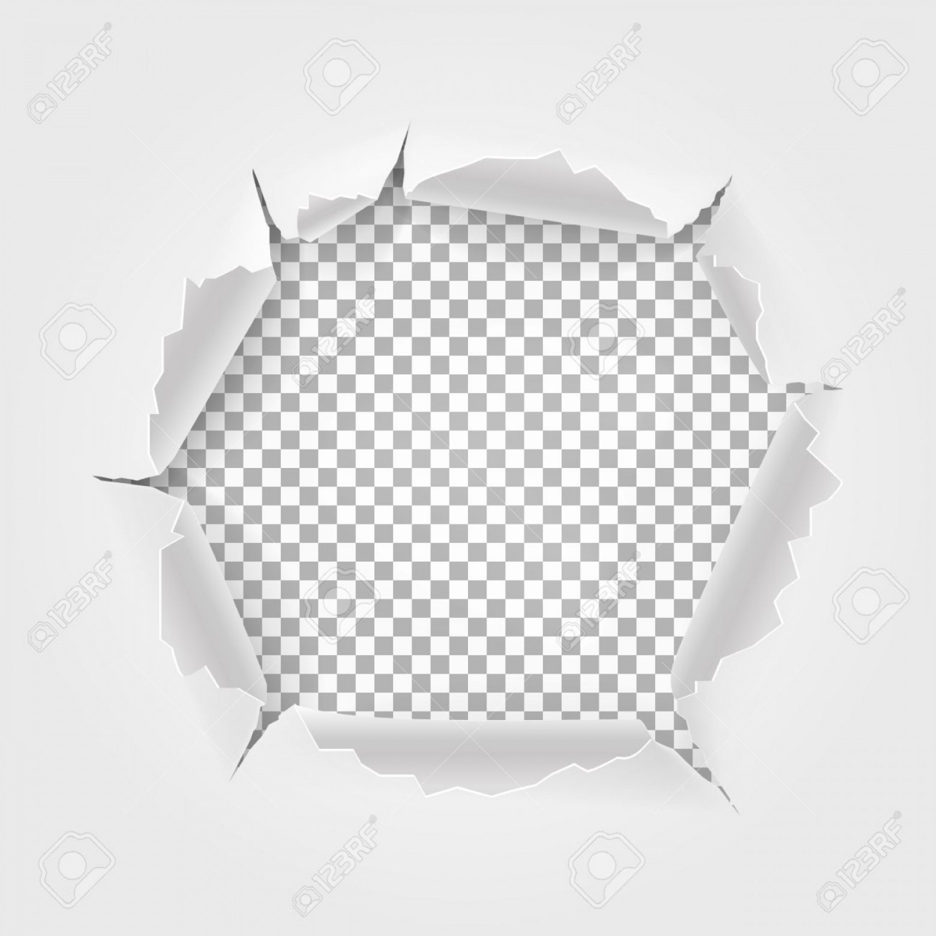 Ripped Black And White Vector: Photostock Vector Torn Paper With Space For Text Torn Hole And Ripped Of Paper Isolated On Transparent Background Vect