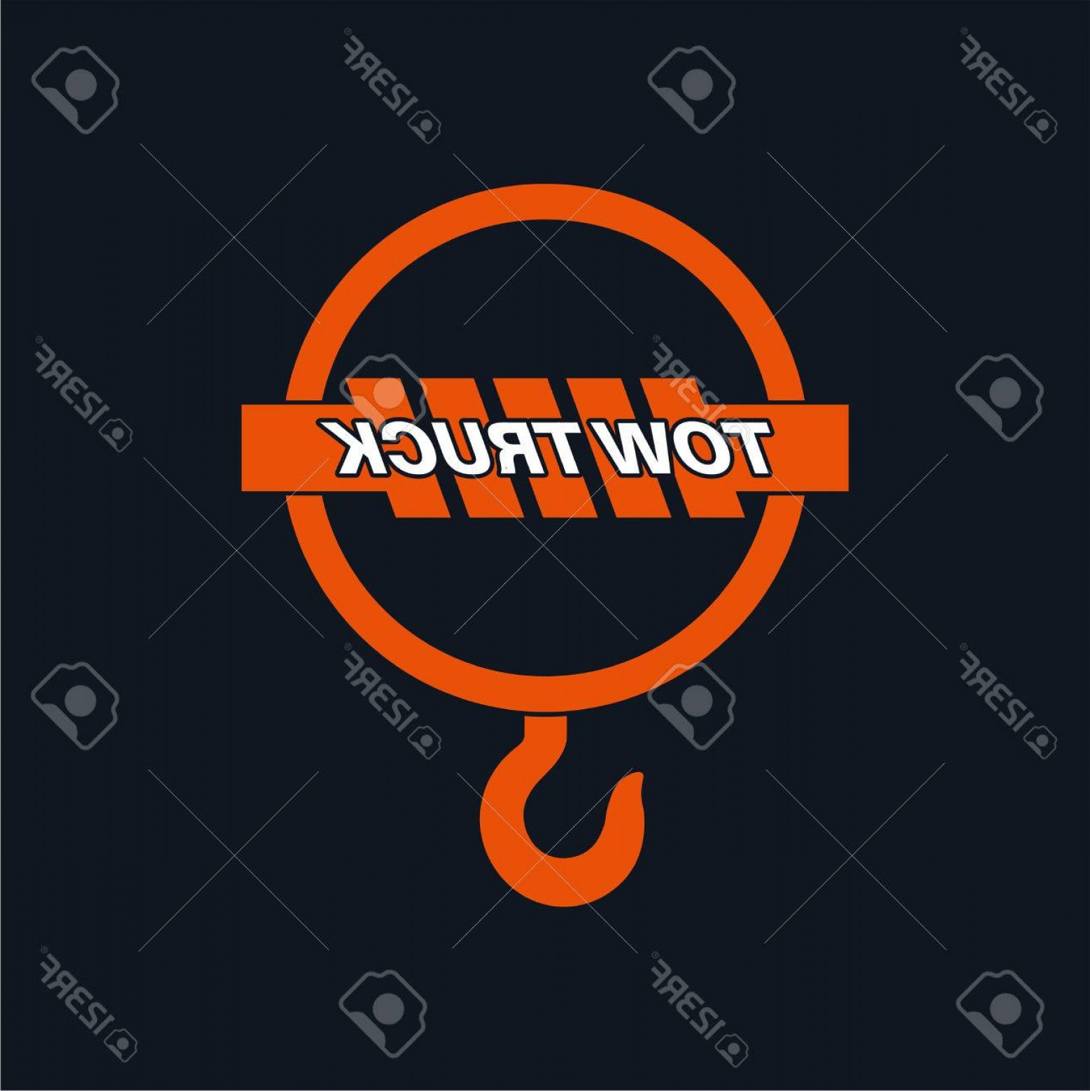 Car Tow Hook Vector: Photostock Vector Tow Truck Icon Wrecker Logotip Towing Hook Round The Clock Evacuation Of Cars Design Can Be Used As