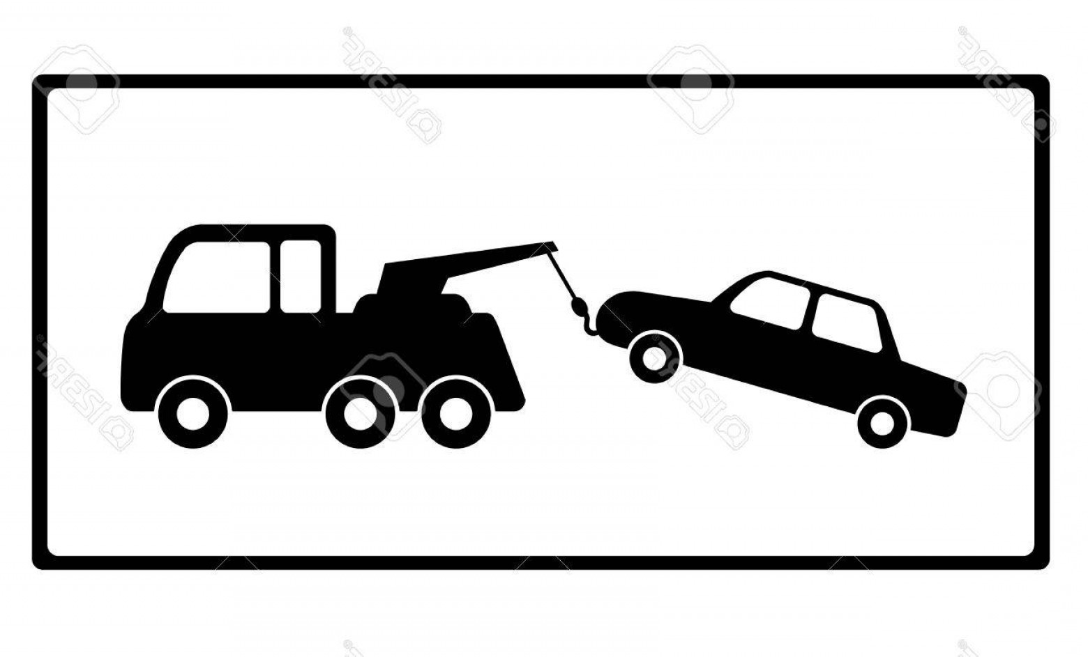 Towing Vector Clip Art: Photostock Vector Towing A Car With Vehicle Breakdown