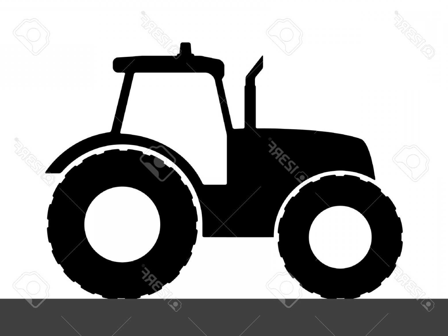 Free Tractor Vector: Photostock Vector Tractor Silhouette On A White Background