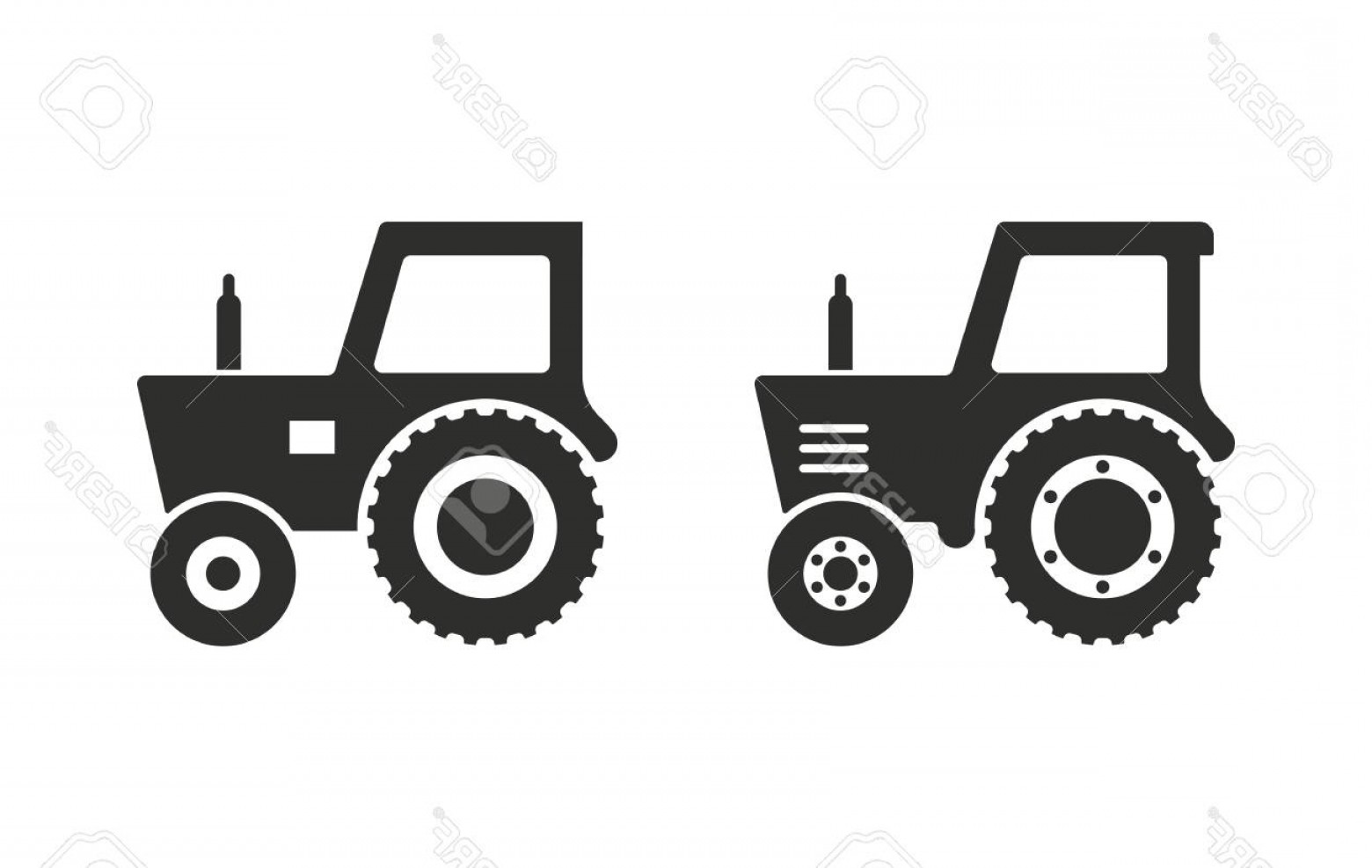Free Tractor Vector: Photostock Vector Tractor Vector Icon Black Illustration Isolated On White Background For Graphic And Web Design