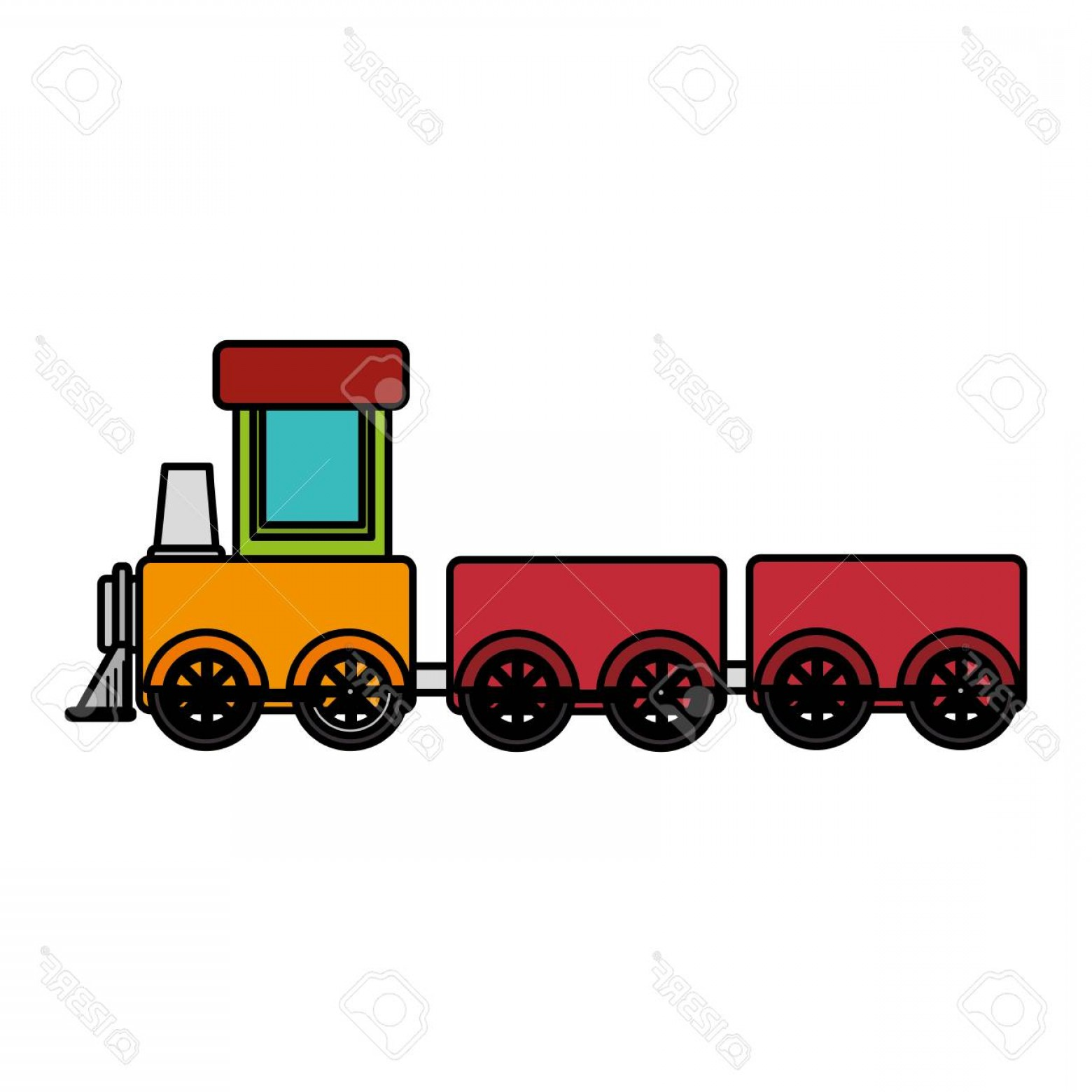 Vector Train Wheel: Photostock Vector Train Toy Isolated Icon Vector Illustration Design