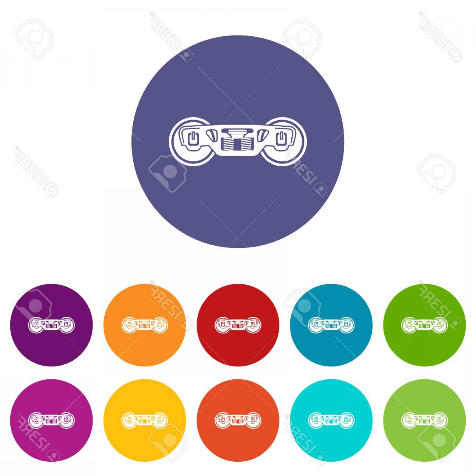 Vector Train Wheel: Photostock Vector Train Wheels Icon Simple Style