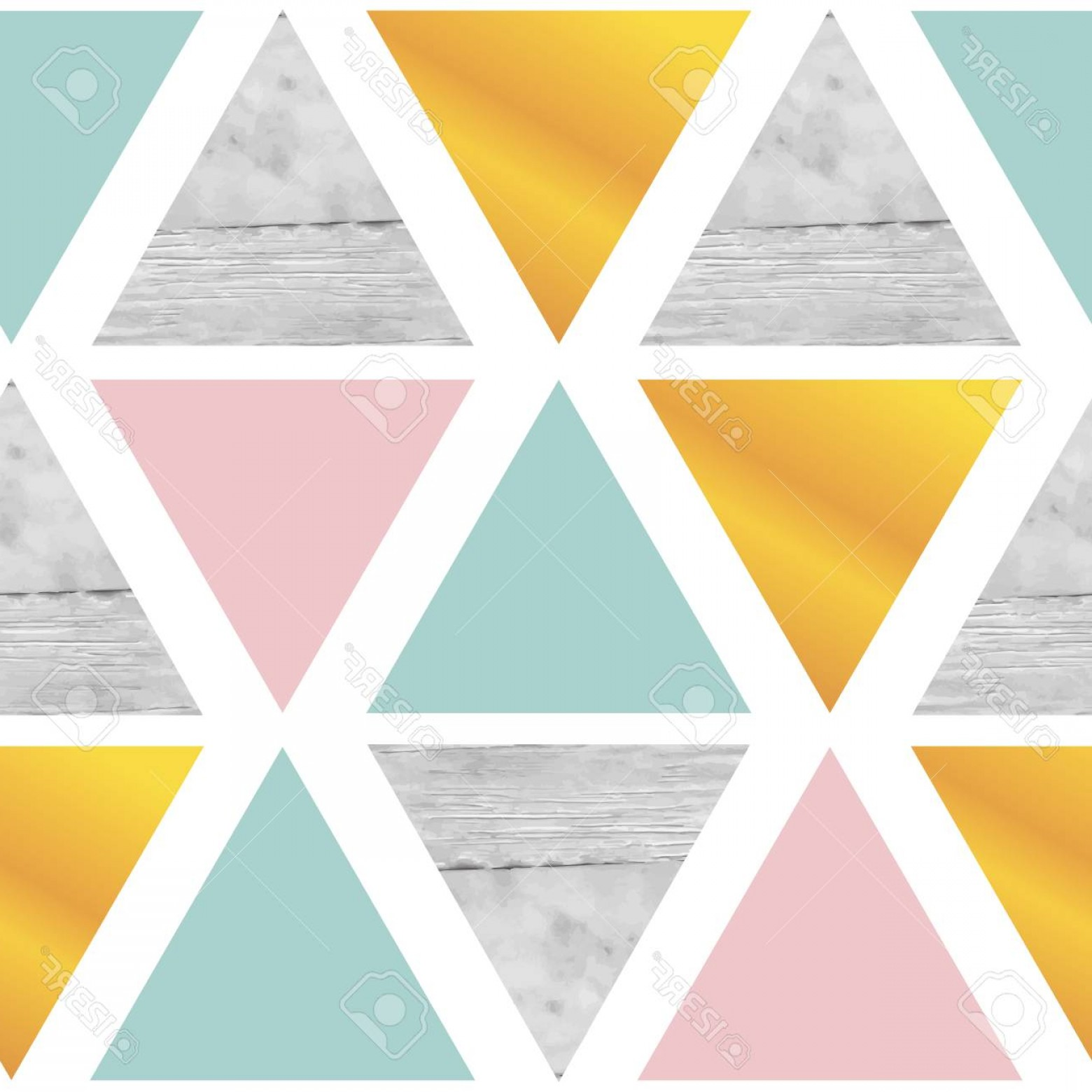 Marble With Gold Background Vector: Photostock Vector Triangular Geometrical Background With Marble Gold Pink Mint Green Color On White Background Vector