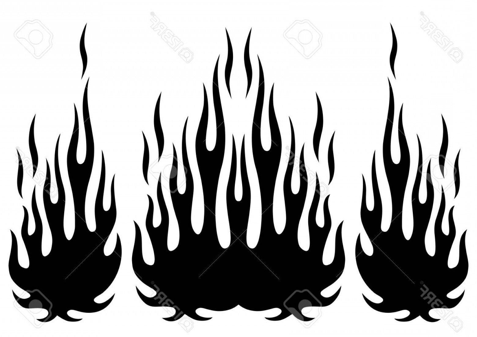 Tribal Flames Vector Car: Photostock Vector Tribal Hotrod Muscle Car Silhouette Flame Kit For Car Hoods And Sides Can Be Used As Decals And Tatt
