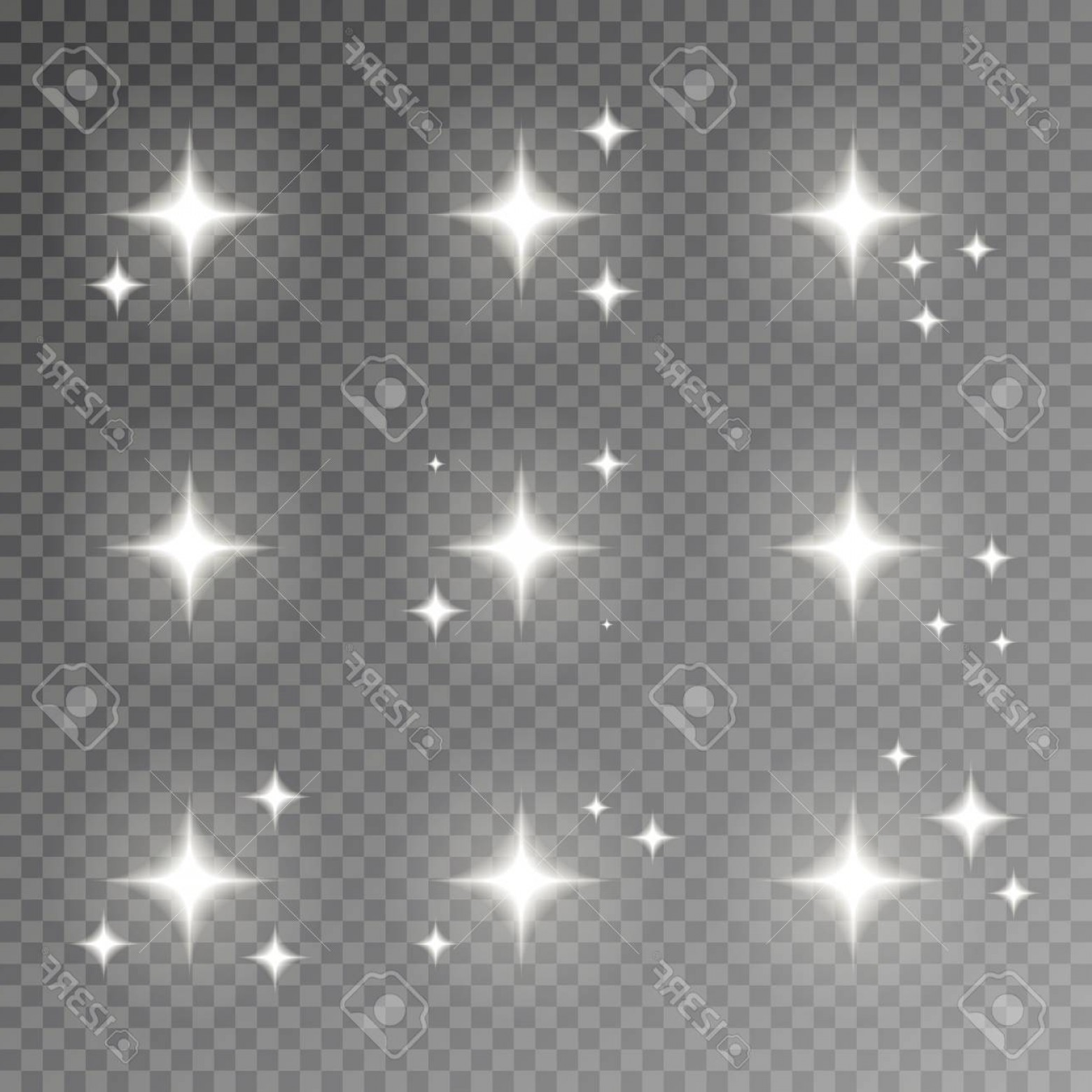 Twinkle Light Vector: Photostock Vector Twinkle Sparkle Vector Isolated On Transparent Background Flash Light Camera Effect Glare Lens Colle