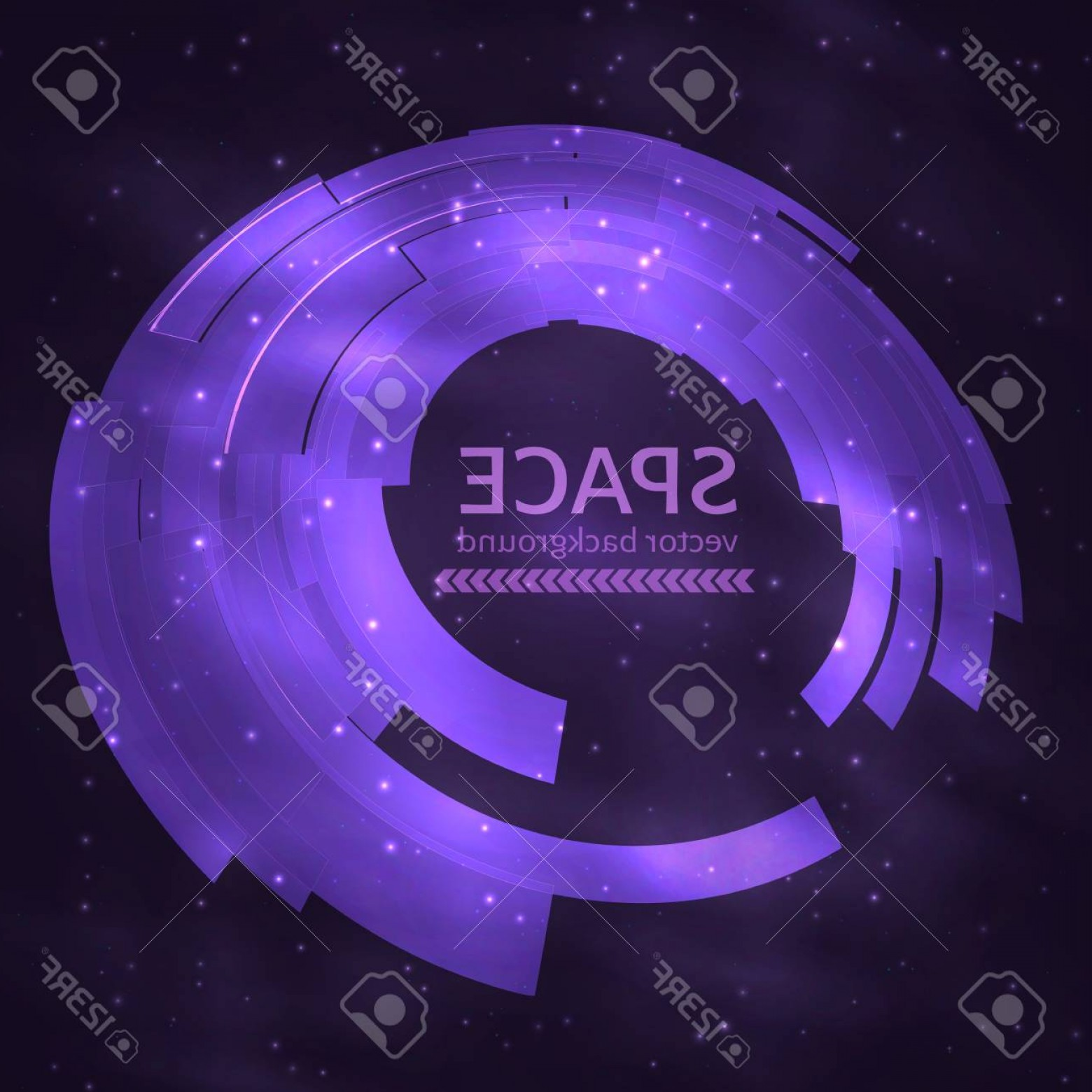 Cosmic Vector Imige: Photostock Vector Ultra Violet Space Abstract Circle Background Ufo Cosmic Vector Illustration Easy To Edit Design Tem