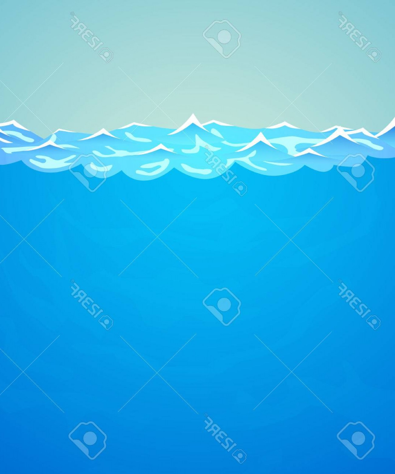 Ocean Water Clip Art Vector: Photostock Vector Underwater Vector Background Sea Or Ocean Water And Waves