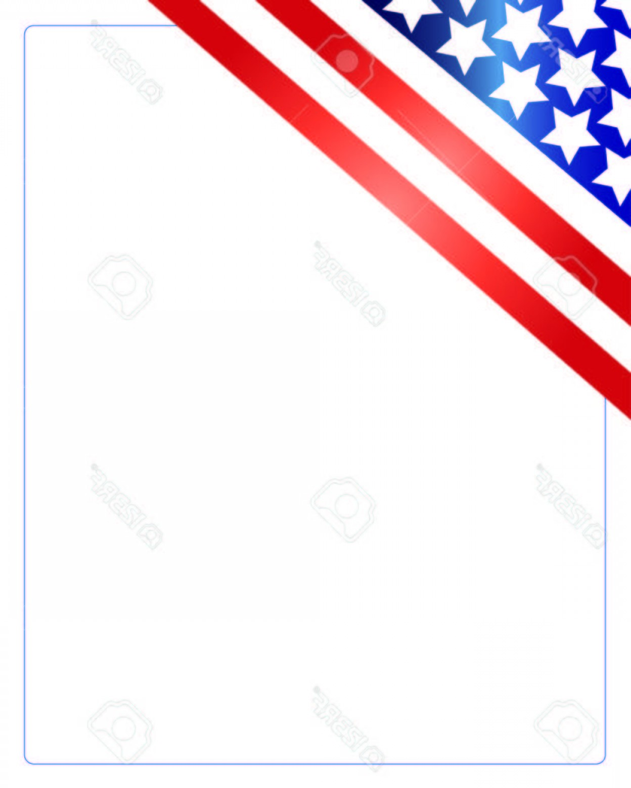US Flag Vector Lines: Photostock Vector United States Of America Flag In The Corner Of The White Background Patriotic American Frame