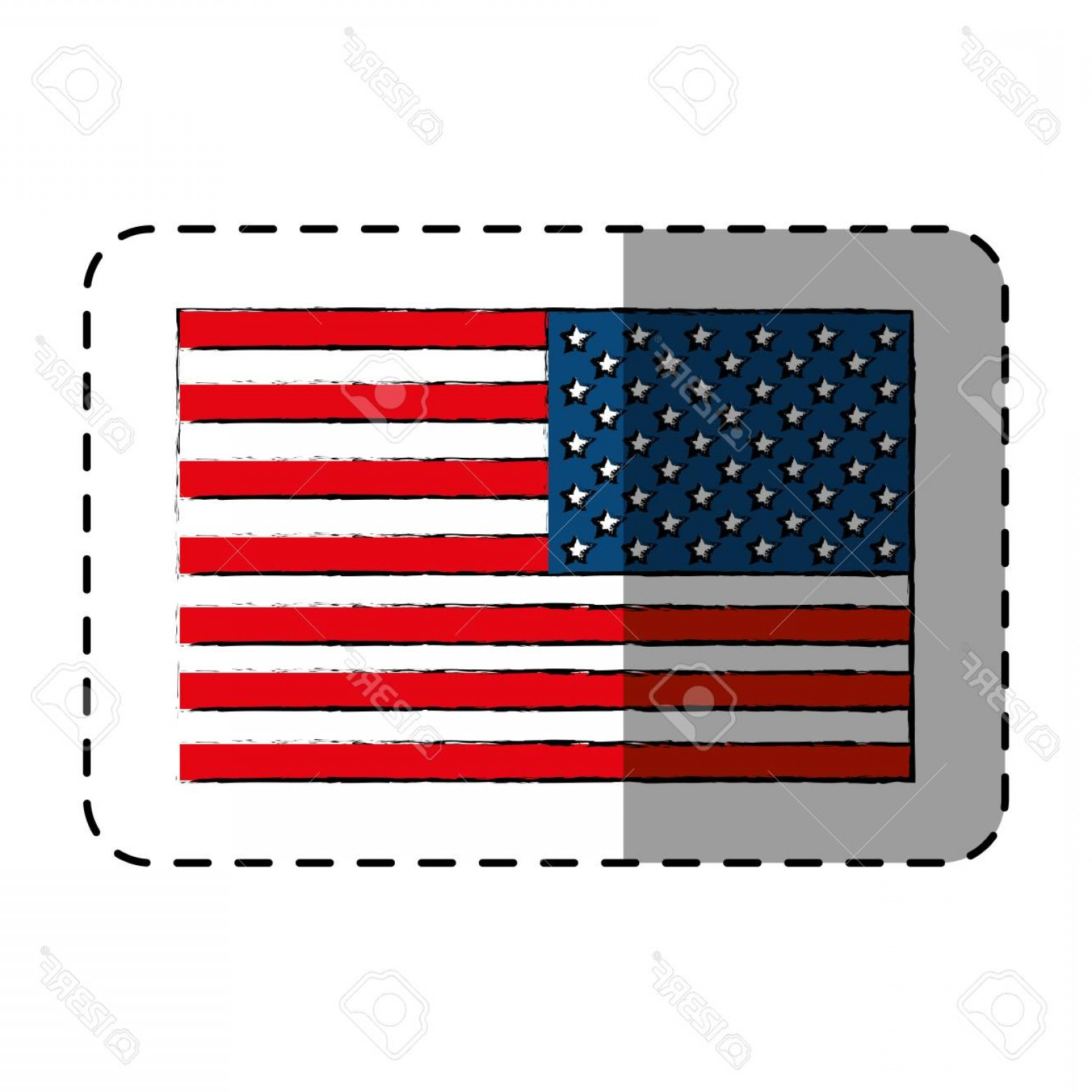 State Flag Images Vector: Photostock Vector United States Of America Flag Vector Illustration Design