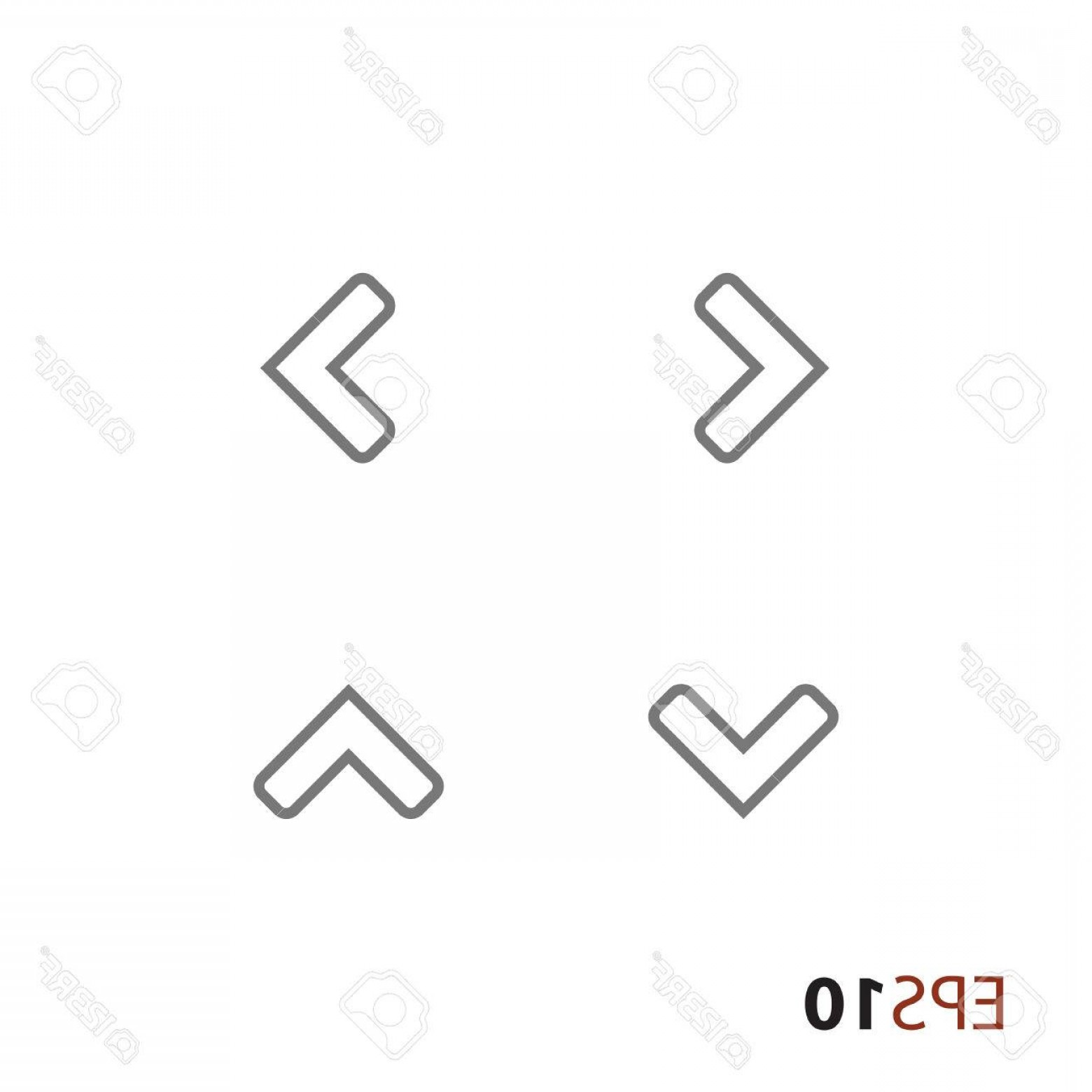 Up And Right Arrows Vector: Photostock Vector Up Down Left Right Arrows For Web