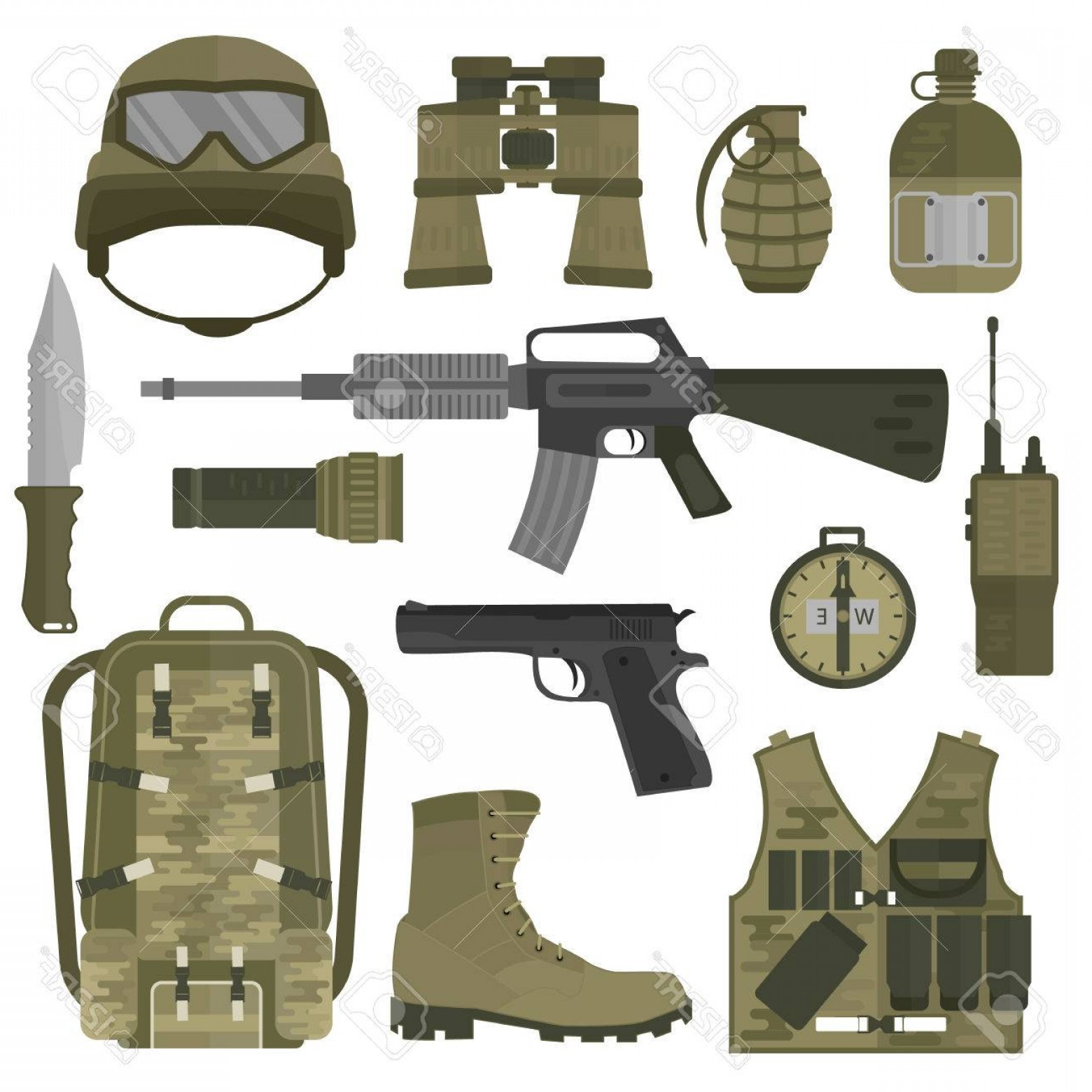 Nato Assault Rifles Vector Graphics: Photostock Vector Usa Or Nato Troop Military Army Symbols Vector Illustration Usa Or Nato Troop Military Army Symbols