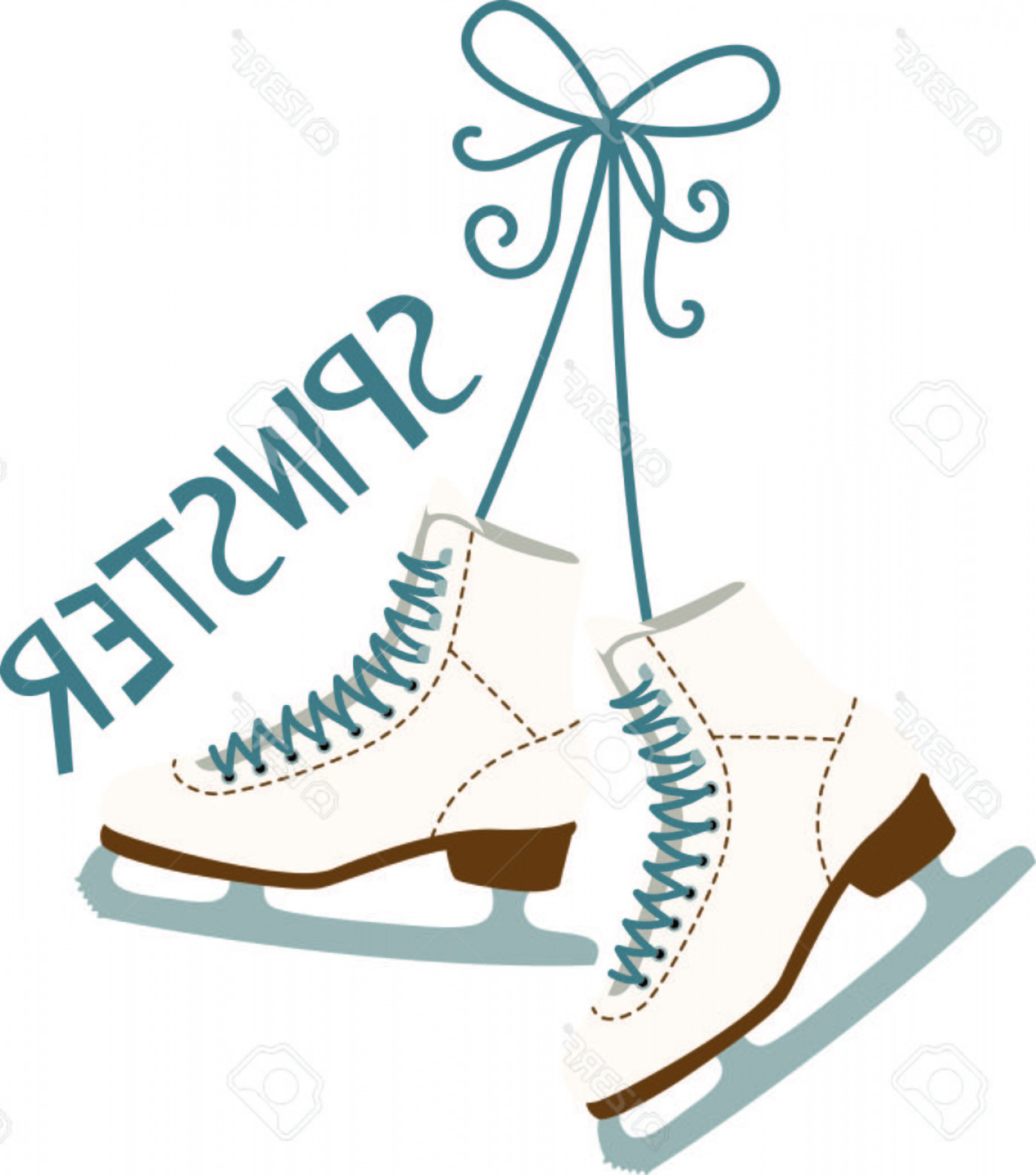 Hockey Skates Vector Art: Photostock Vector Use These Hanging Ice Skating Boots For The Fan Of Ladies Figure Skating