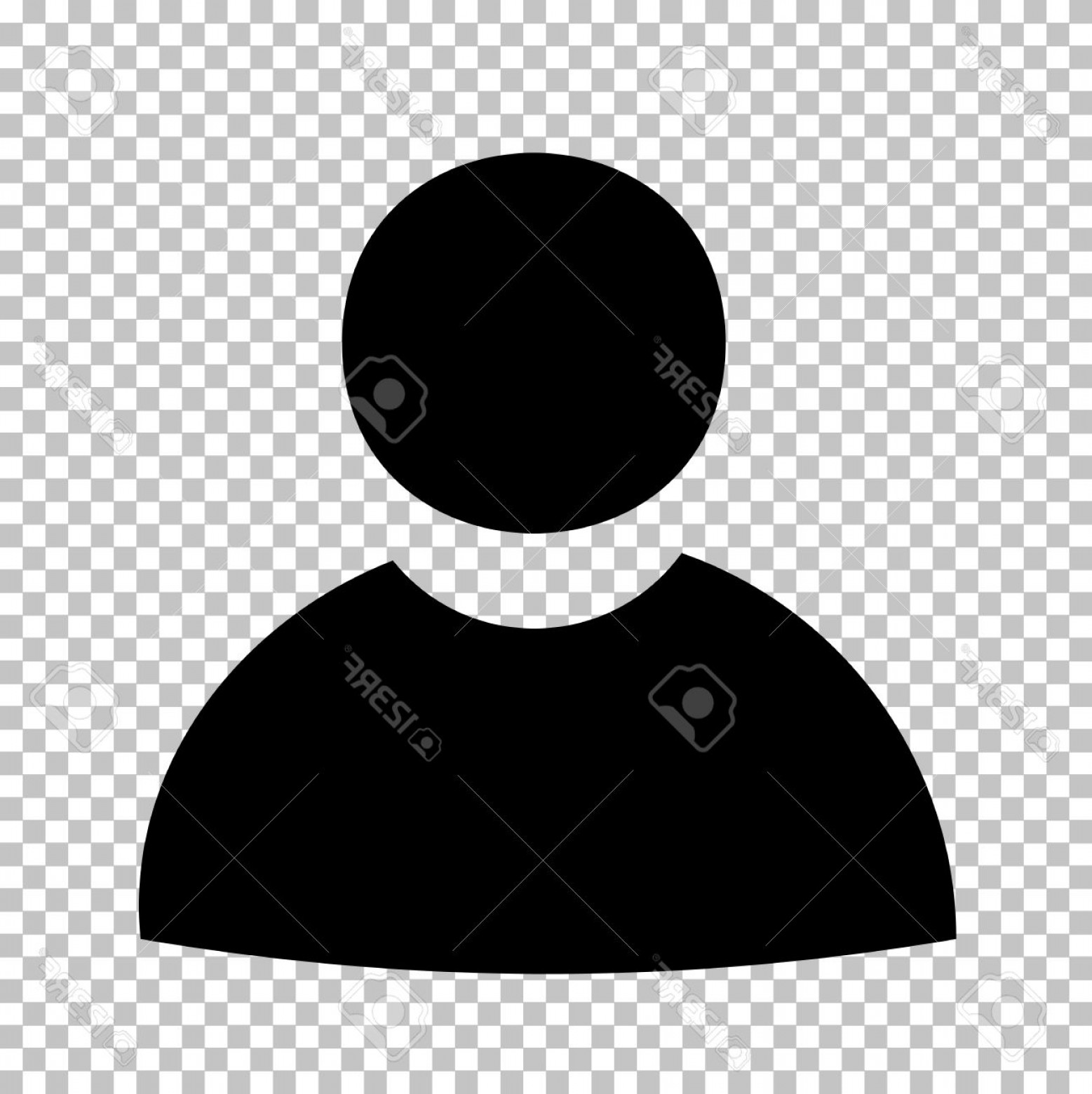 User Icon Vector Free: Photostock Vector User Sign Flat Style Icon On Transparent Background