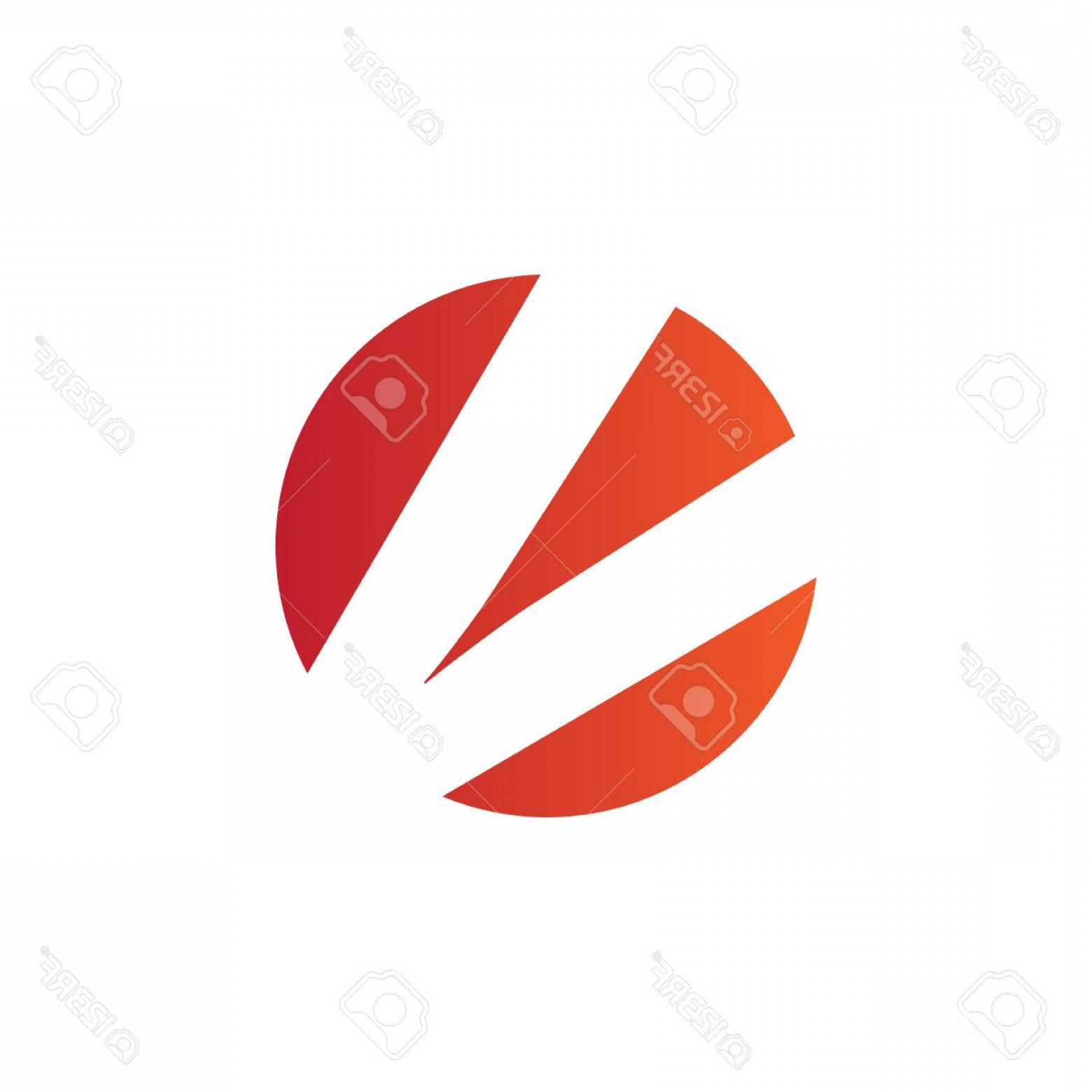V Logo Vector: Photostock Vector V Logo Vector Graphic Business Branding Letter Element Illustration Orange Negative Space Design Whi