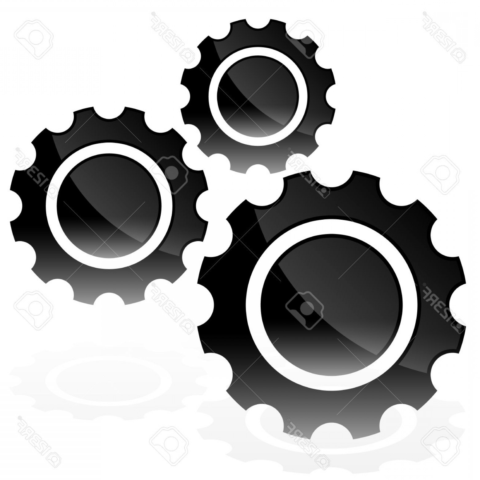 Vector Gear Graphics: Photostock Vector Various Gear Wheel Rack Wheel Vector Graphics Mechanics Manufacturing Industrial Or Maintenance Rewo