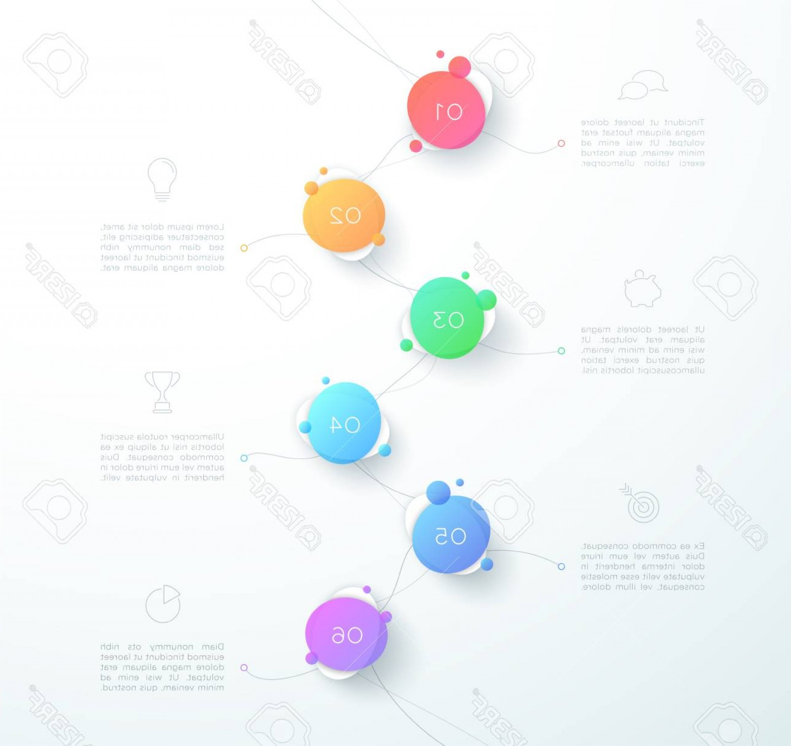 Vector Abstract 3D: Photostock Vector Vector Abstract D Number To Step Infographic Page Layout