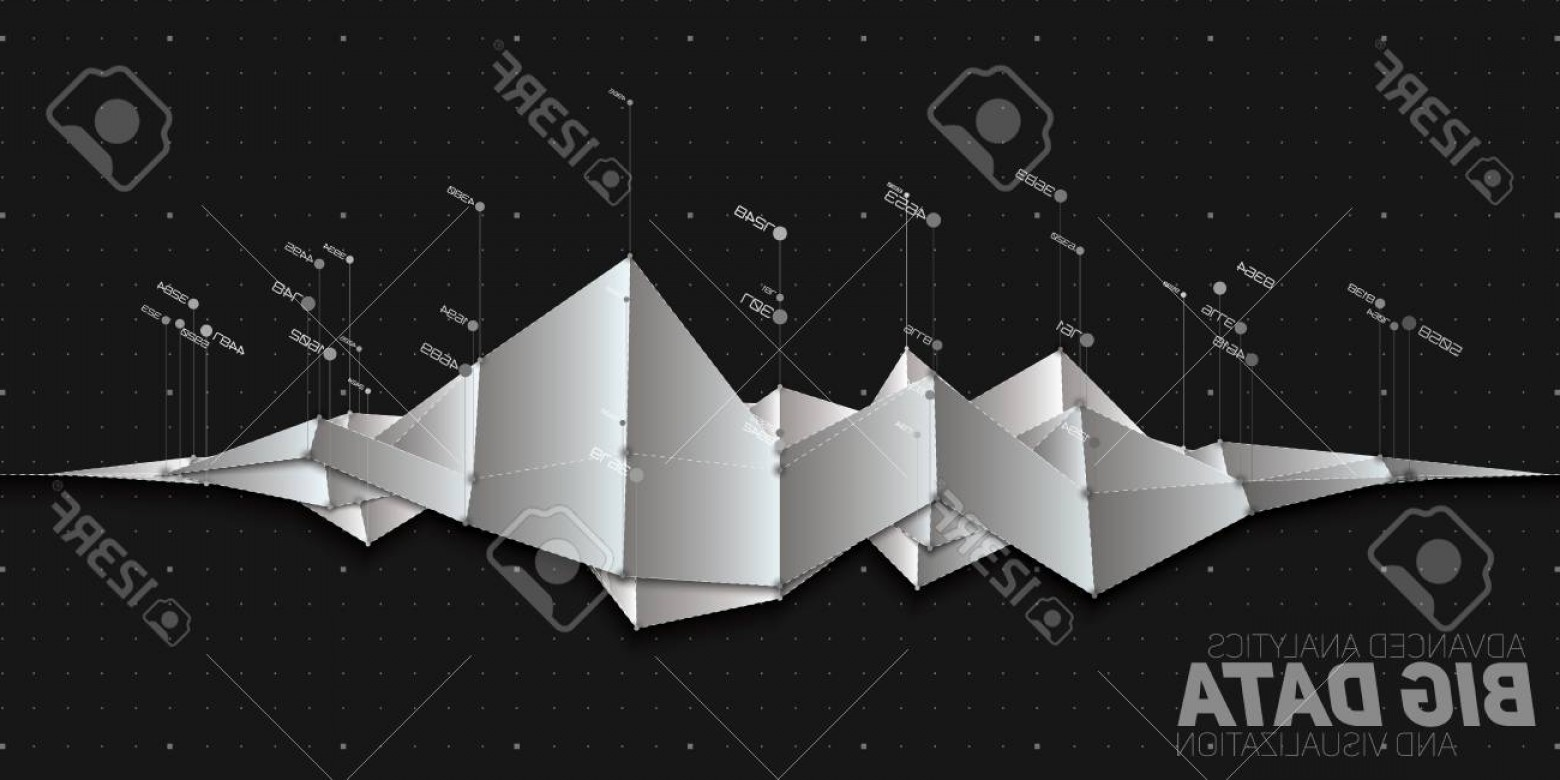 Vector Data Structure Complexity: Photostock Vector Vector Abstract Grayscale Financial Big Data Graph Visualization Futuristic Infographics Aesthetic D