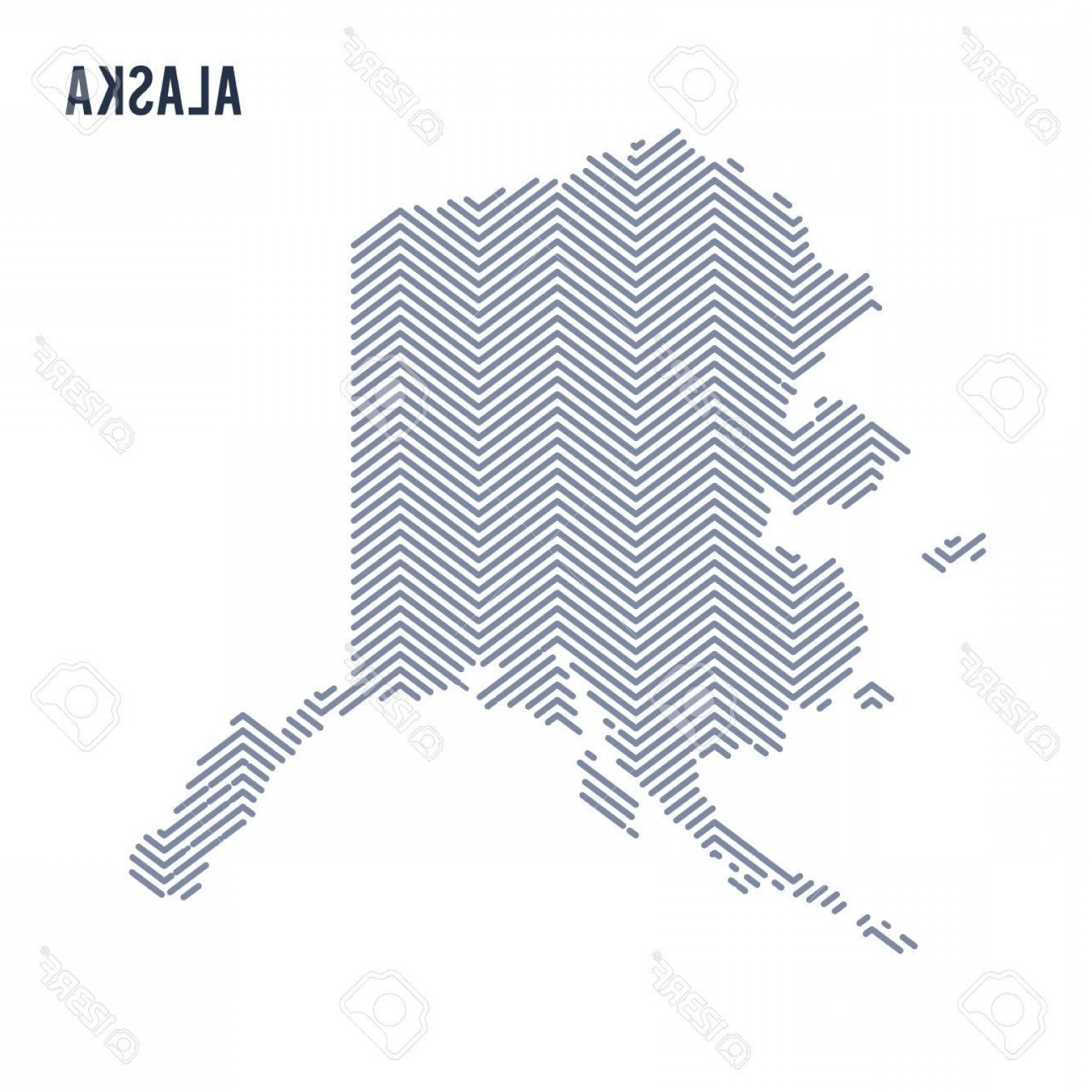 Alaska State White Background Vectors: Photostock Vector Vector Abstract Hatched Map Of State Of Alaska Isolated On A White Background Travel Vector Illustra