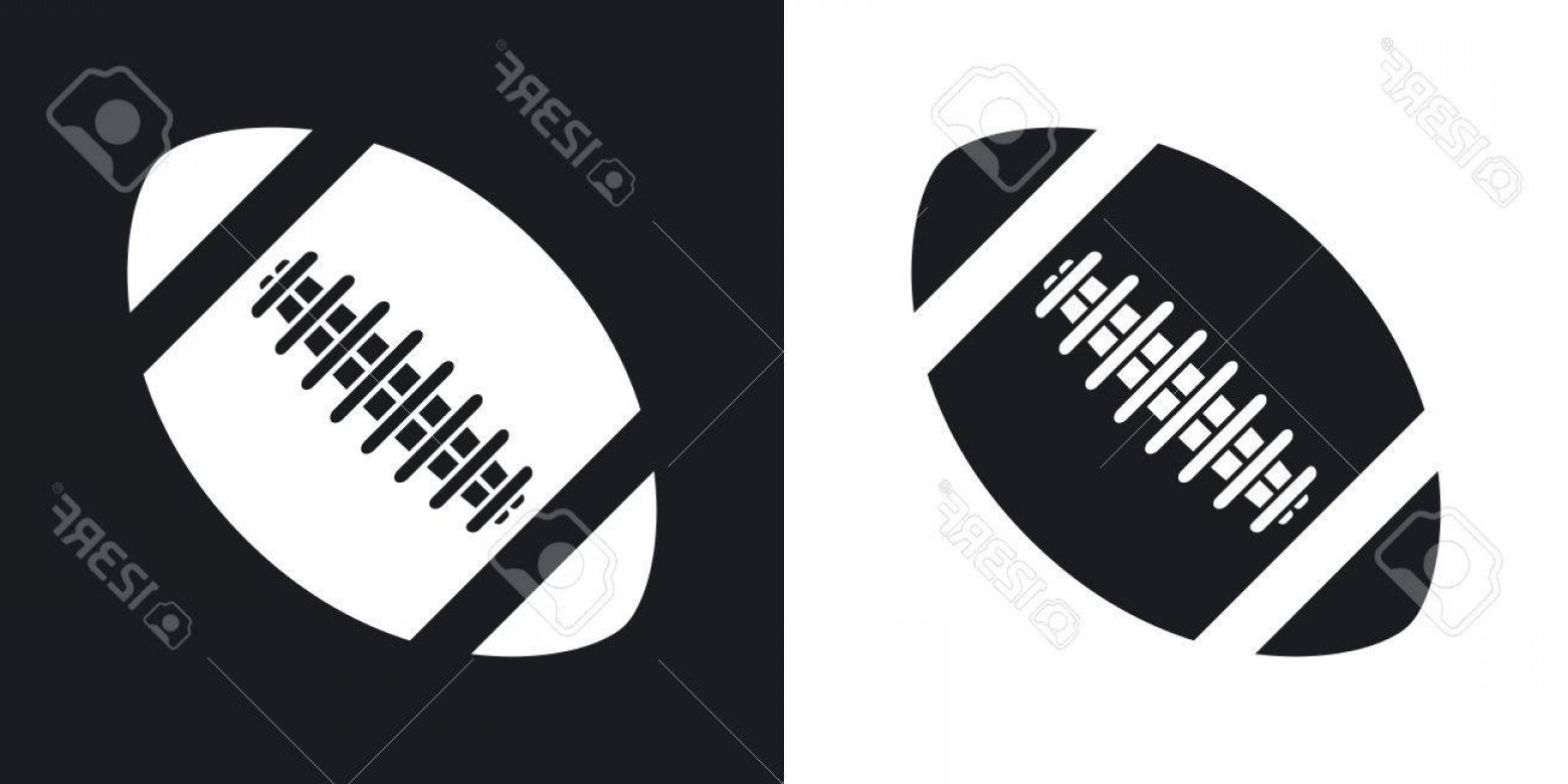 Black And White Vector American Football: Photostock Vector Vector American Football Ball Icon Two Tone Version On Black And White Background