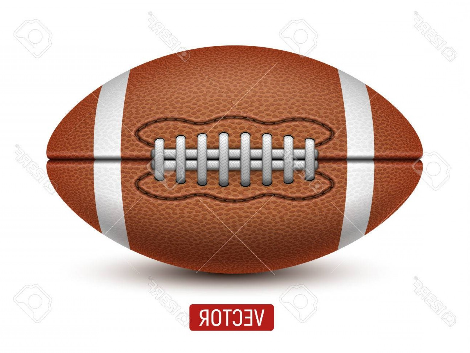 High Res Vector American Football: Photostock Vector Vector American Football Ball On A White Background Realistic Illustration Rugby Sport