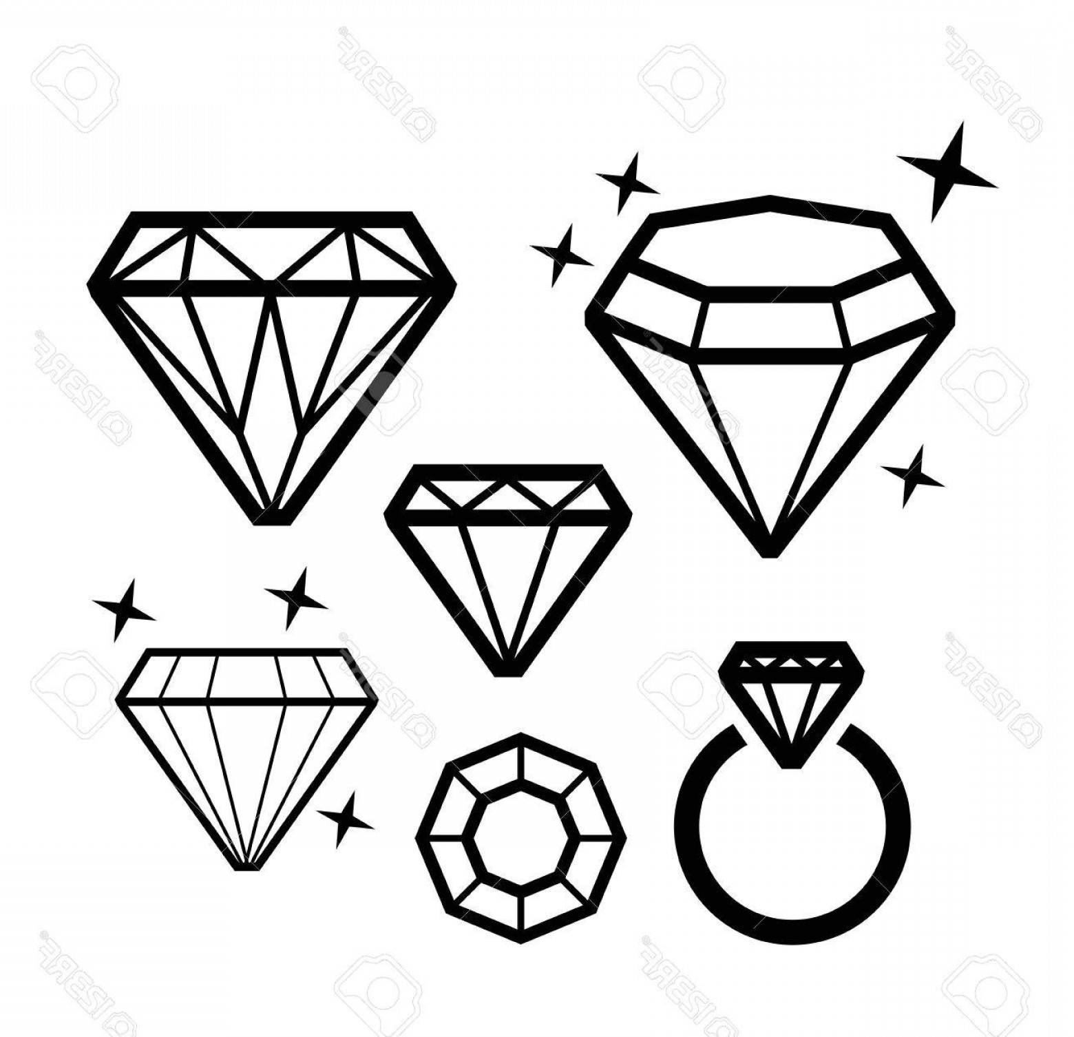 Black Diamond Vector Clip Art: Photostock Vector Vector Black Diamond Icons On White Background