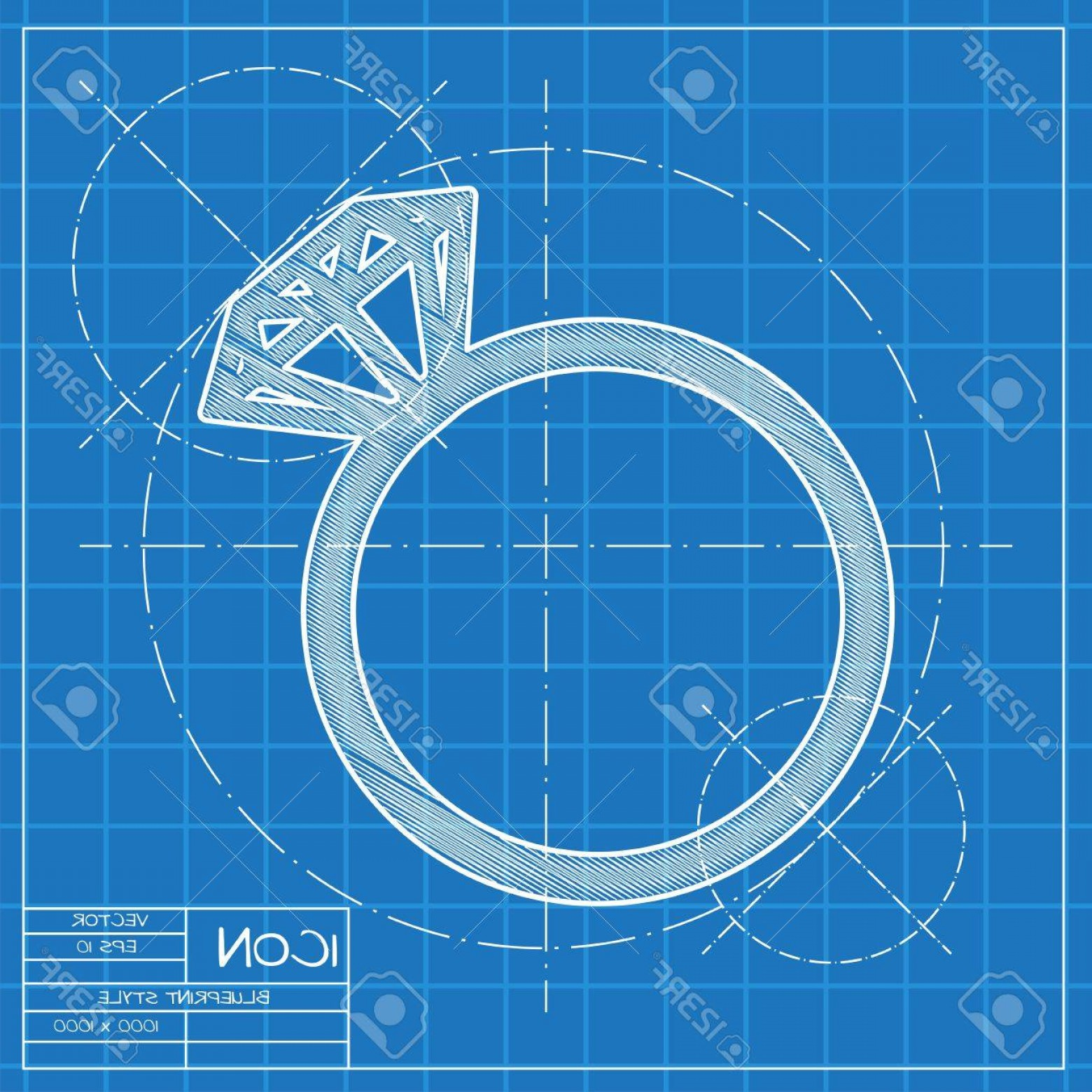 Blue Print Vectors: Photostock Vector Vector Blueprint Wedding Ring Icon Engineer And Architect Background