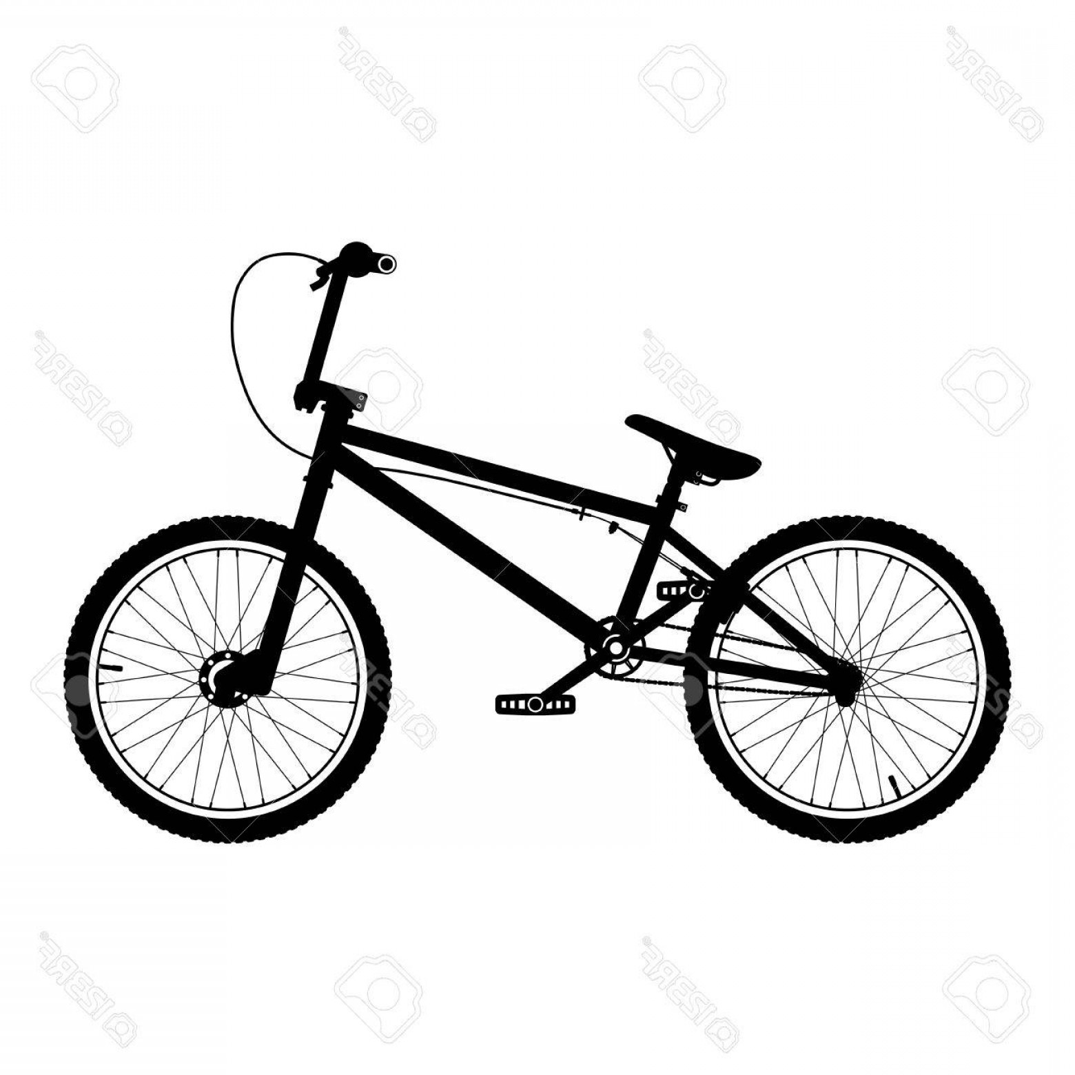 BMX Bike Tire Vector: Photostock Vector Vector Bmx Bicycle Silhouette Bmx Bike Isolated On White