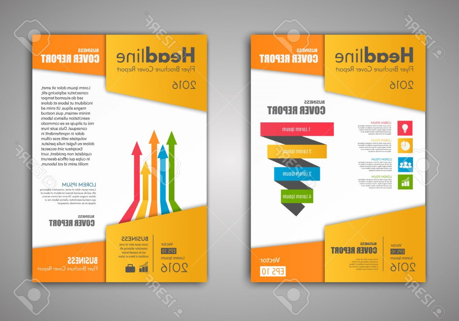 Vector Brochure Cover Designs: Photostock Vector Vector Brochure Flyer Design Layout Template Size A Front Page And Back Page Business Infographics