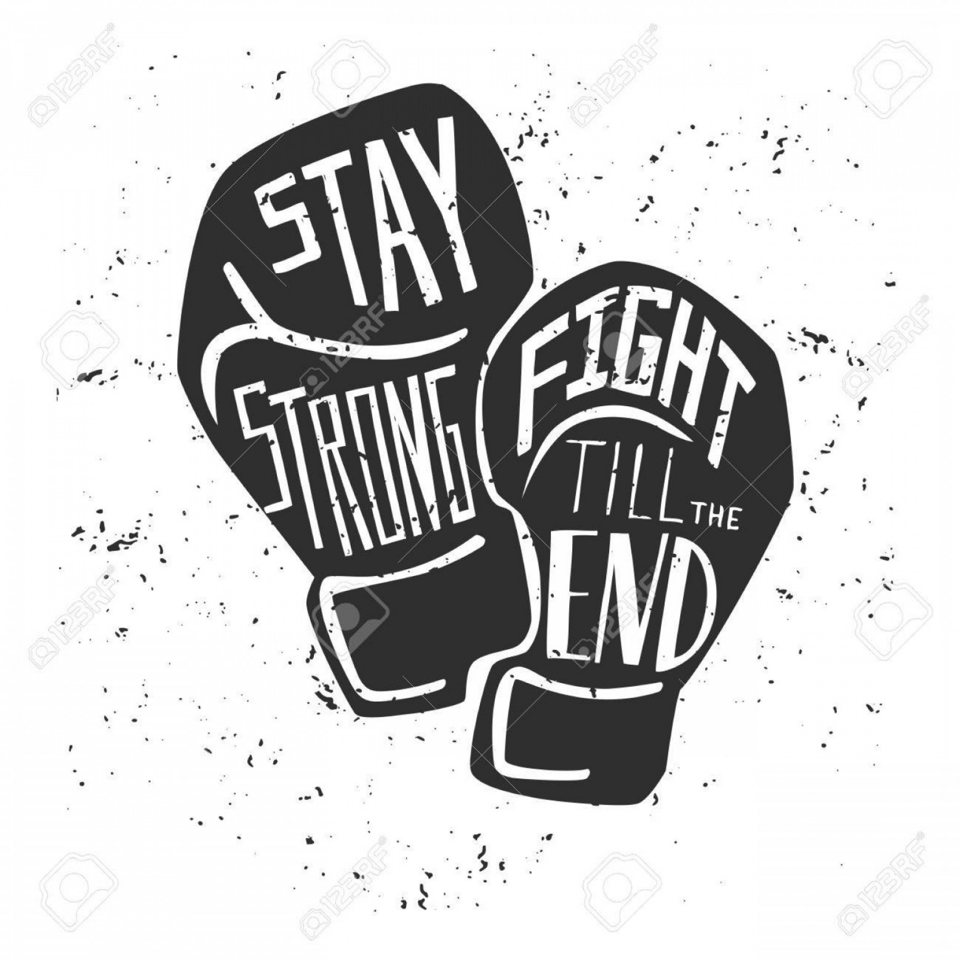 Pictures Of Boxing Gloves Vector Art: Photostock Vector Vector Card And Poster With Black Silhouette Of Boxing Gloves And White Hand Written Illustration Wi
