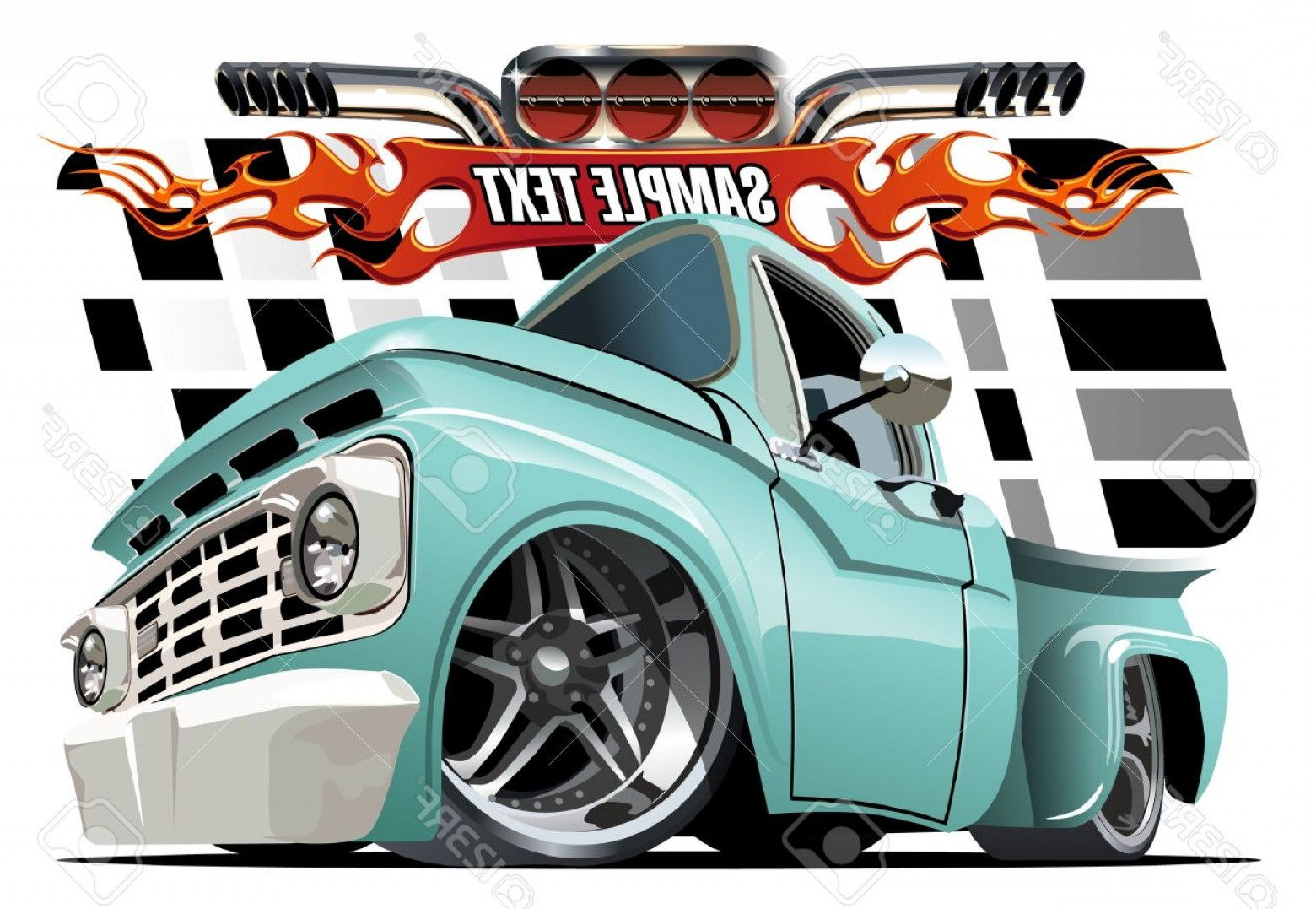 Lowrider Vector: Photostock Vector Vector Cartoon Lowrider Available Eps Separated By Groups And Layers With Transparency Effects Fo