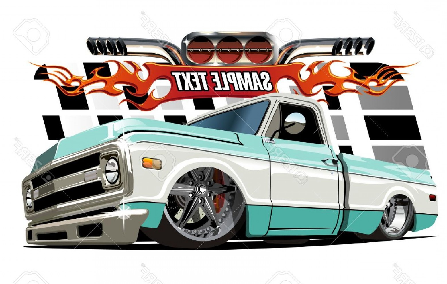 Lowrider Vector: Photostock Vector Vector Cartoon Lowrider Available Separated By Groups And Layers With Transparency Effects For One C