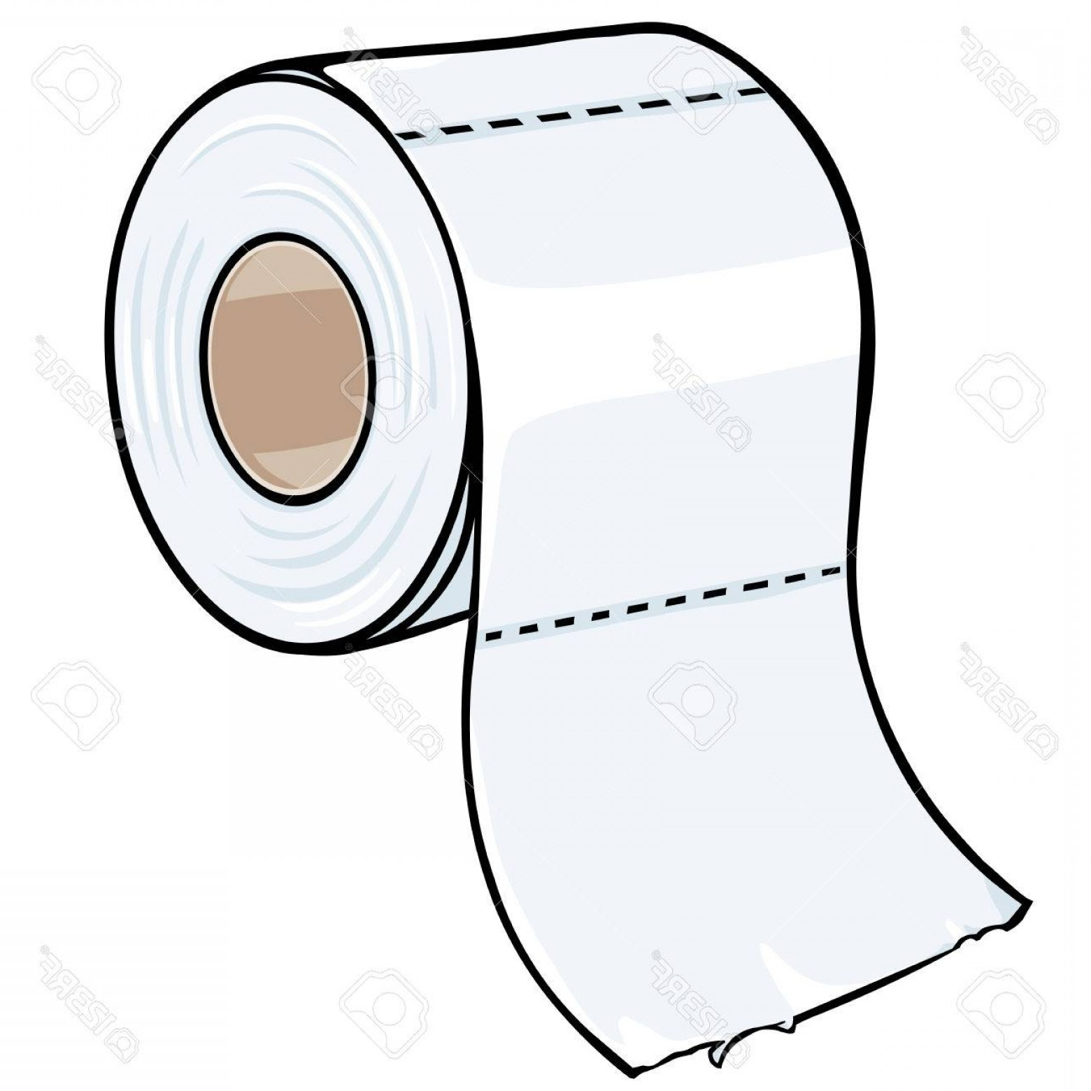 Toilet Paper Vector: Photostock Vector Vector Cartoon Toilet Paper On White Background