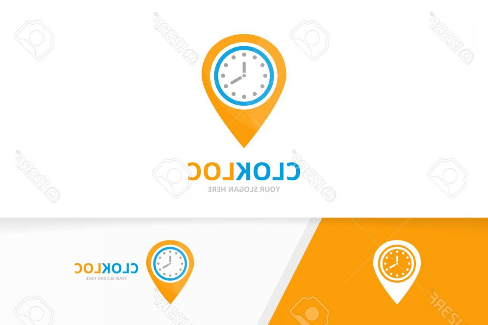 Unique Pointer Vector: Photostock Vector Vector Clock And Map Pointer Logo Combination Time And Gps Locator Symbol Or Icon Unique Express And