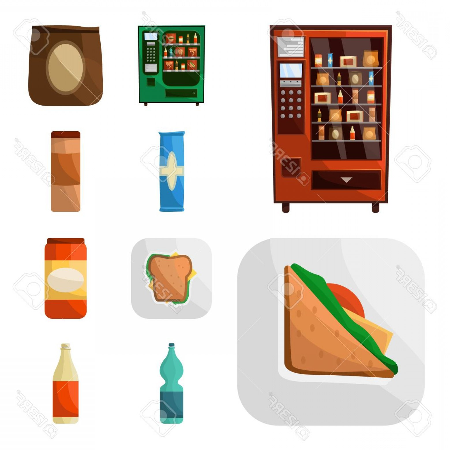 Snack Vector: Photostock Vector Vector Design Of Vending And Service Symbol Set Of Vending And Snack Vector Icon For Stock