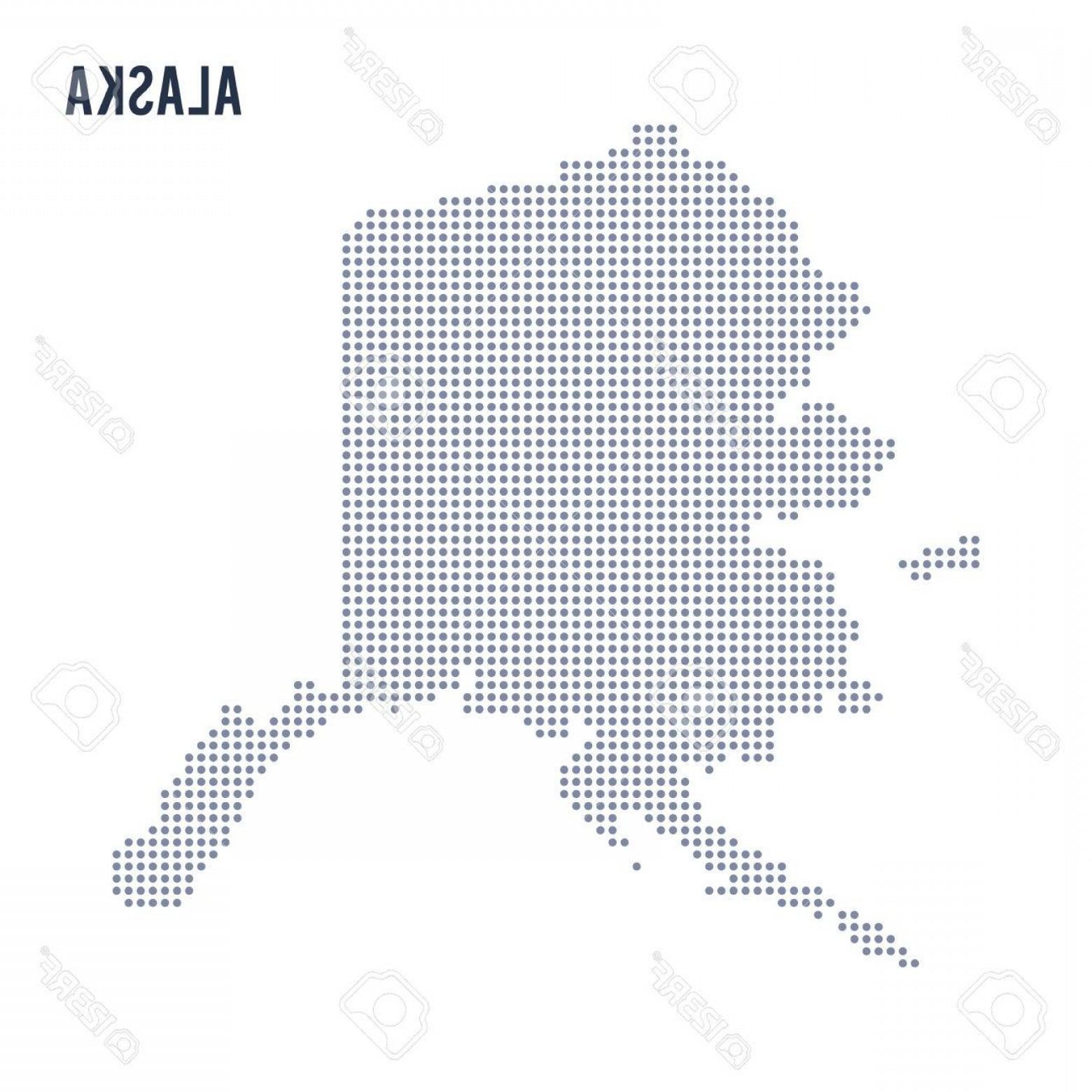Alaska State White Background Vectors: Photostock Vector Vector Dotted Map State Of Alaska Isolated On White Background Travel Vector Illustration