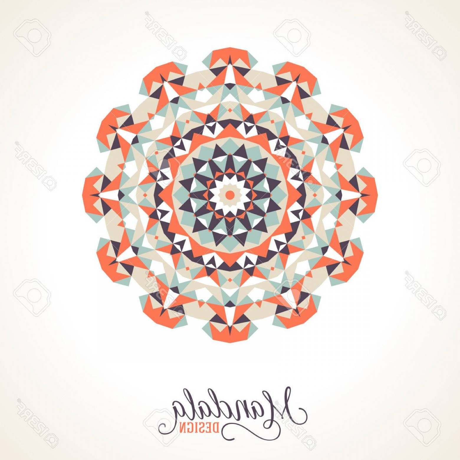 Bohemian Flowers Vector: Photostock Vector Vector Ethnic Colorful Bohemian Round Ornament In Bright Colors Big Abstract Flower Or Mandala With