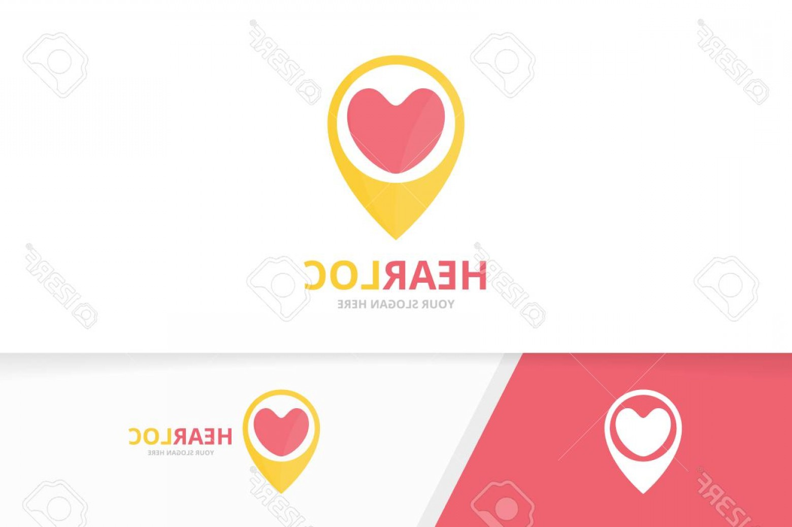 Unique Pointer Vector: Photostock Vector Vector Heart And Map Pointer Logo Combination Love And Gps Locator Symbol Or Icon Unique Romantic An