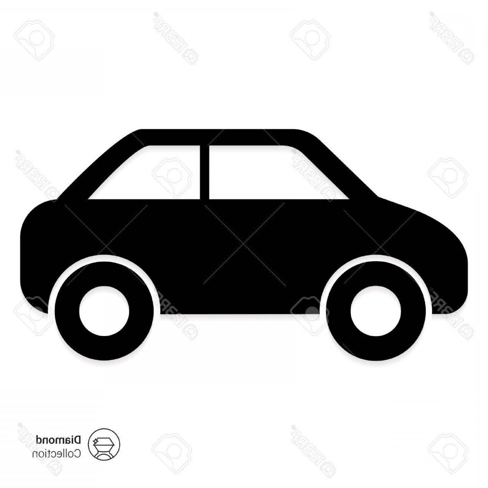 Car Silhouette Vector Free: Photostock Vector Vector Icon Of Standing Car Silhouette Side View