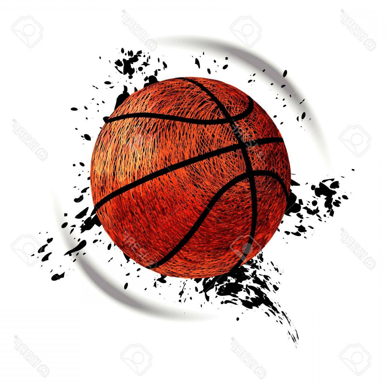 Grunge Basketball Vector: Photostock Vector Vector Illustration For Basketball Grunge Style A Lot Of Lines Spots Splashes