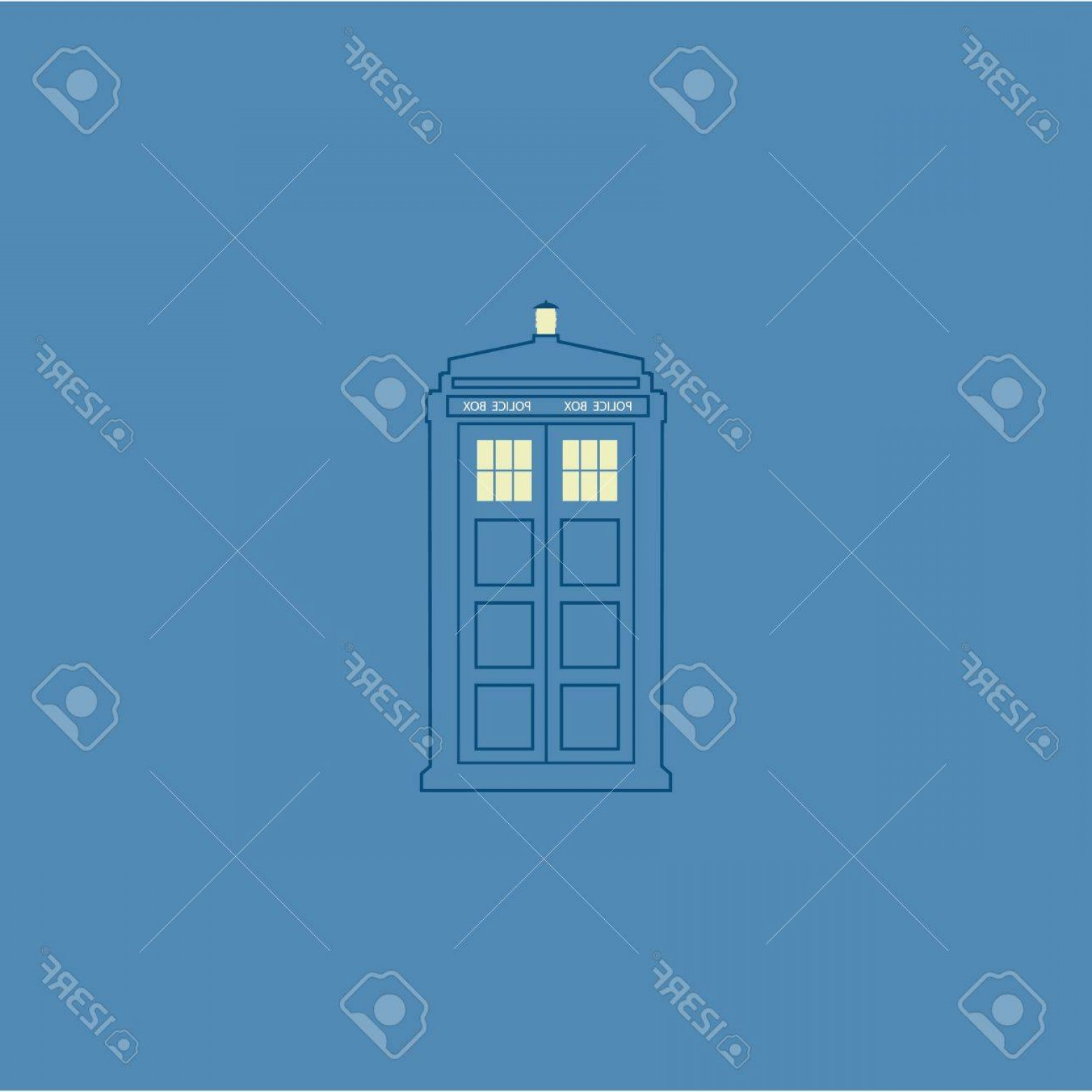 Vector Police Box: Photostock Vector Vector Illustration Of British Police Box On Baclground
