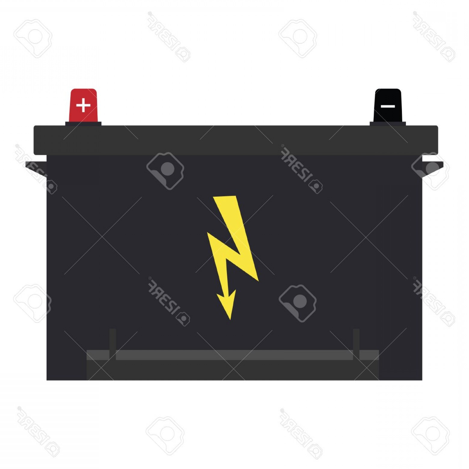 Vector Battery Charger Parts: Photostock Vector Vector Illustration Of Car Battery With Lightning Symbol Car Parts Car Battery Icon