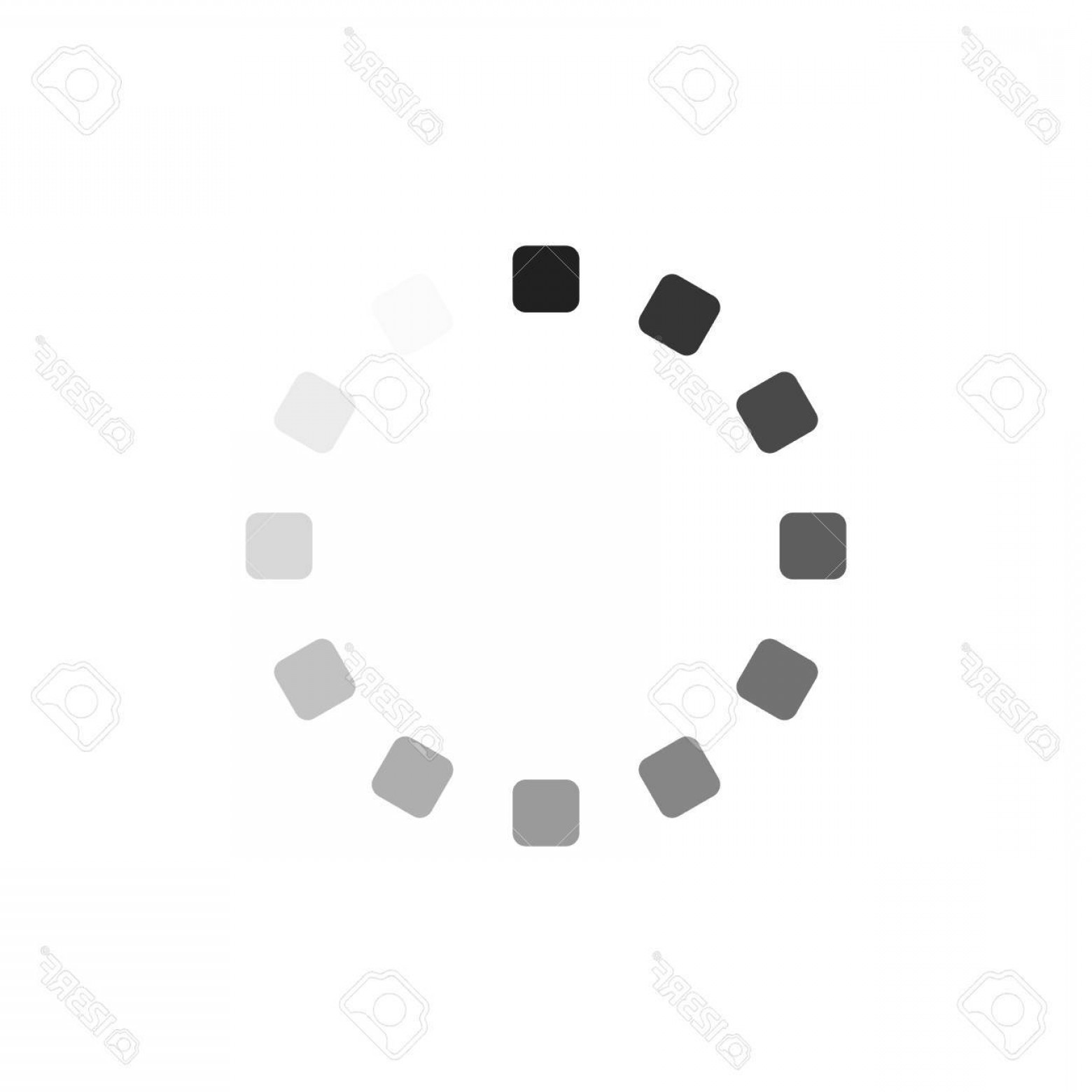 Downloadable Vector Cross: Photostock Vector Vector Illustration Of Circles Showing Downloading Process Isolated On White