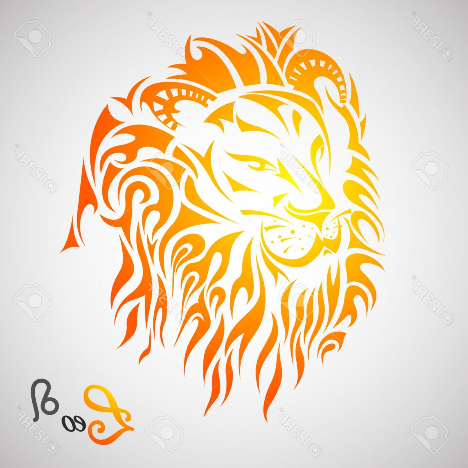 Leo Symbol Zodiac Vector: Photostock Vector Vector Illustration Of Leo Zodiac Sign