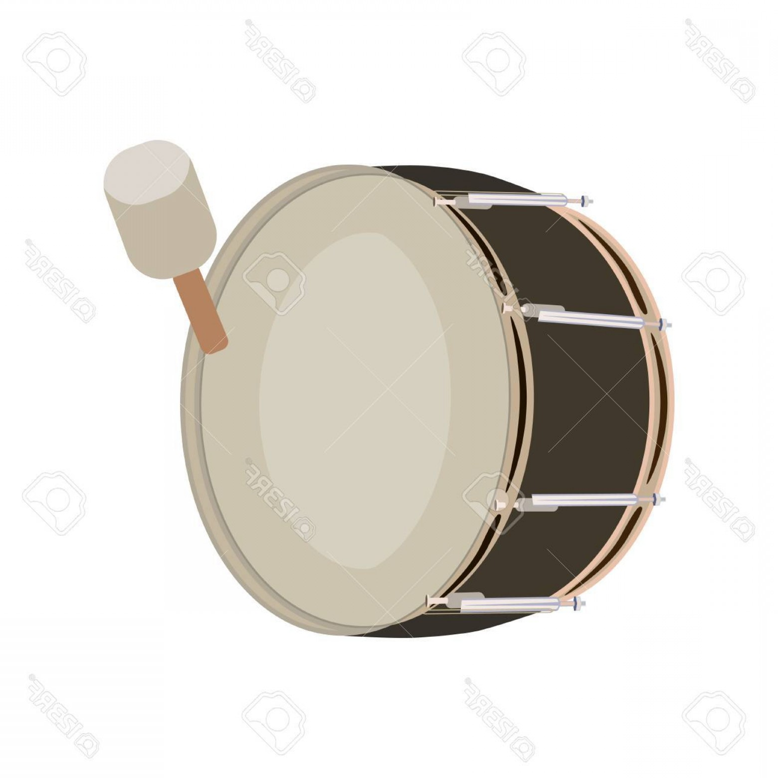 Kick Drum Vector: Photostock Vector Vector Illustration Of Pipe Band Bass Drum Musical Instrument Isolated On White Background