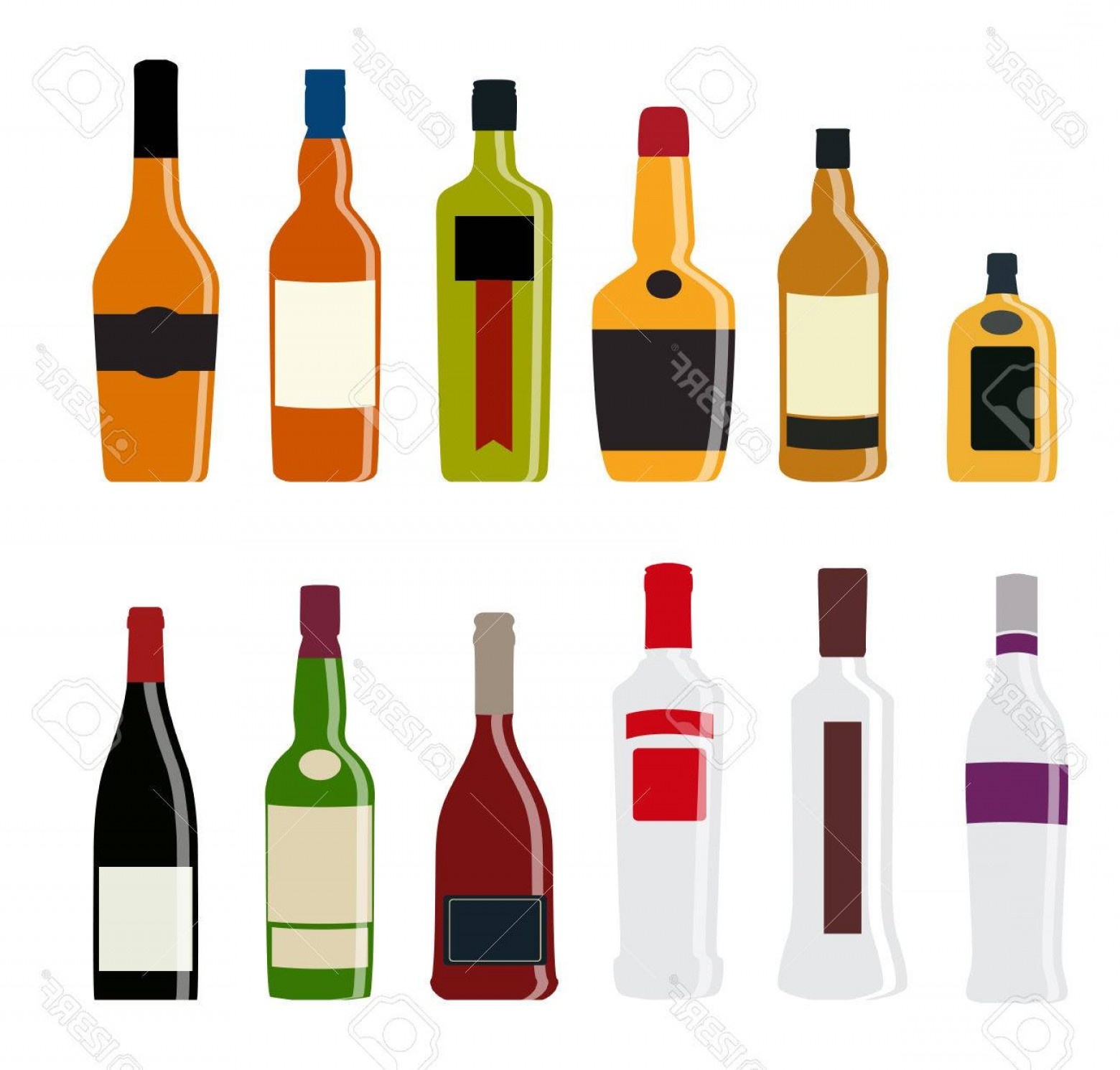 Alcohol Vector: Photostock Vector Vector Illustration Of Silhouette Alcohol Bottle