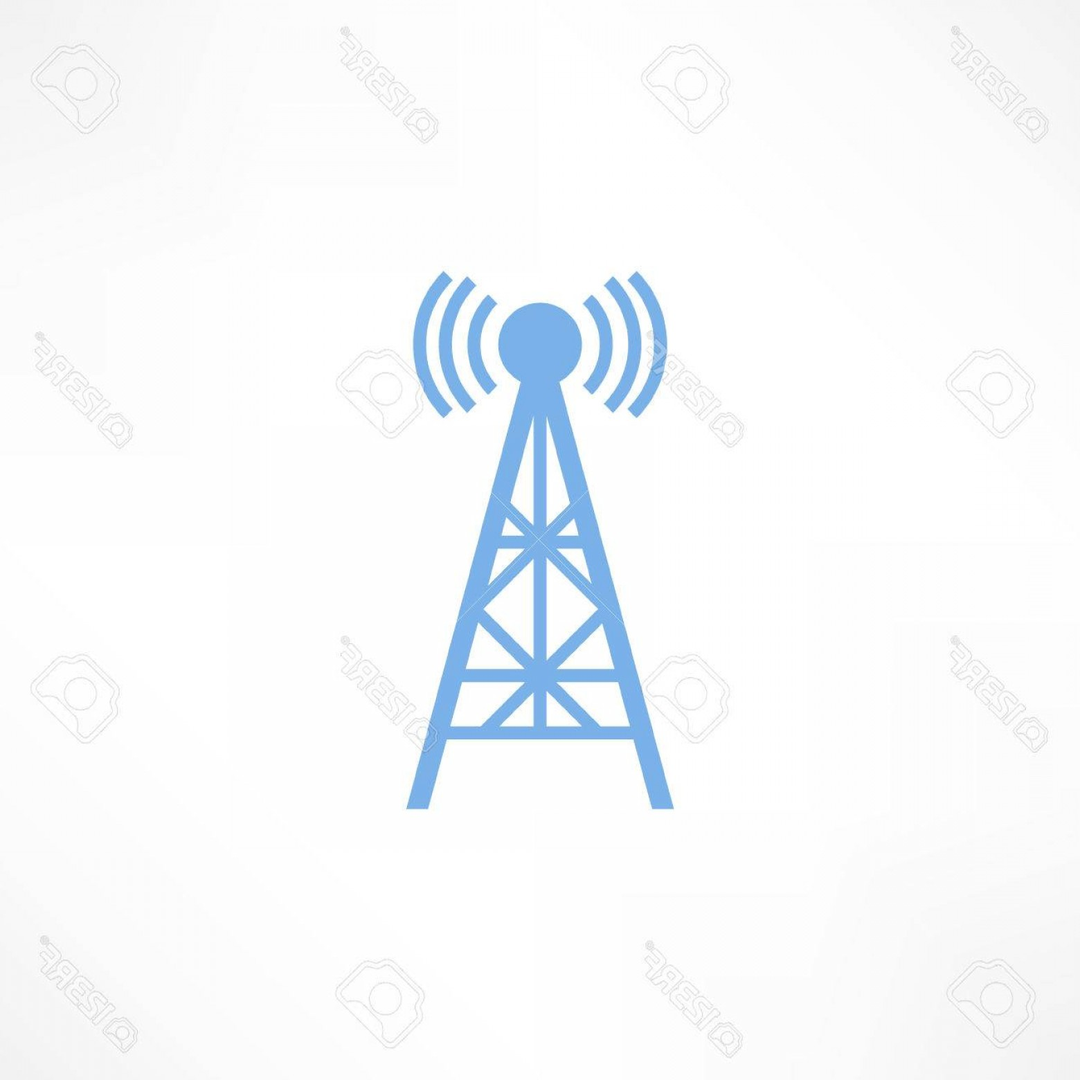 Vector Phone Tower: Photostock Vector Vector Illustration Radio Antenna Wireless Technology And Network Signal Radio Antenna Wave Tower Ra